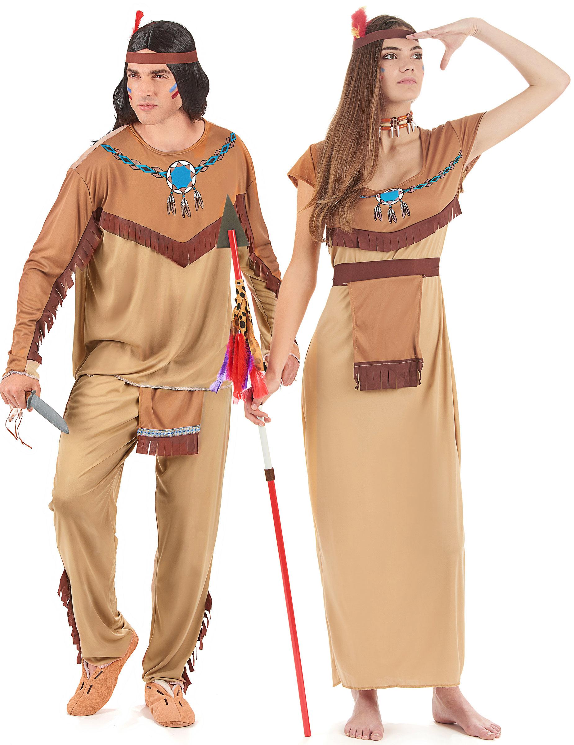 Costume beige coppia indiani adulto  Costumi coppia 6d784fcdc329