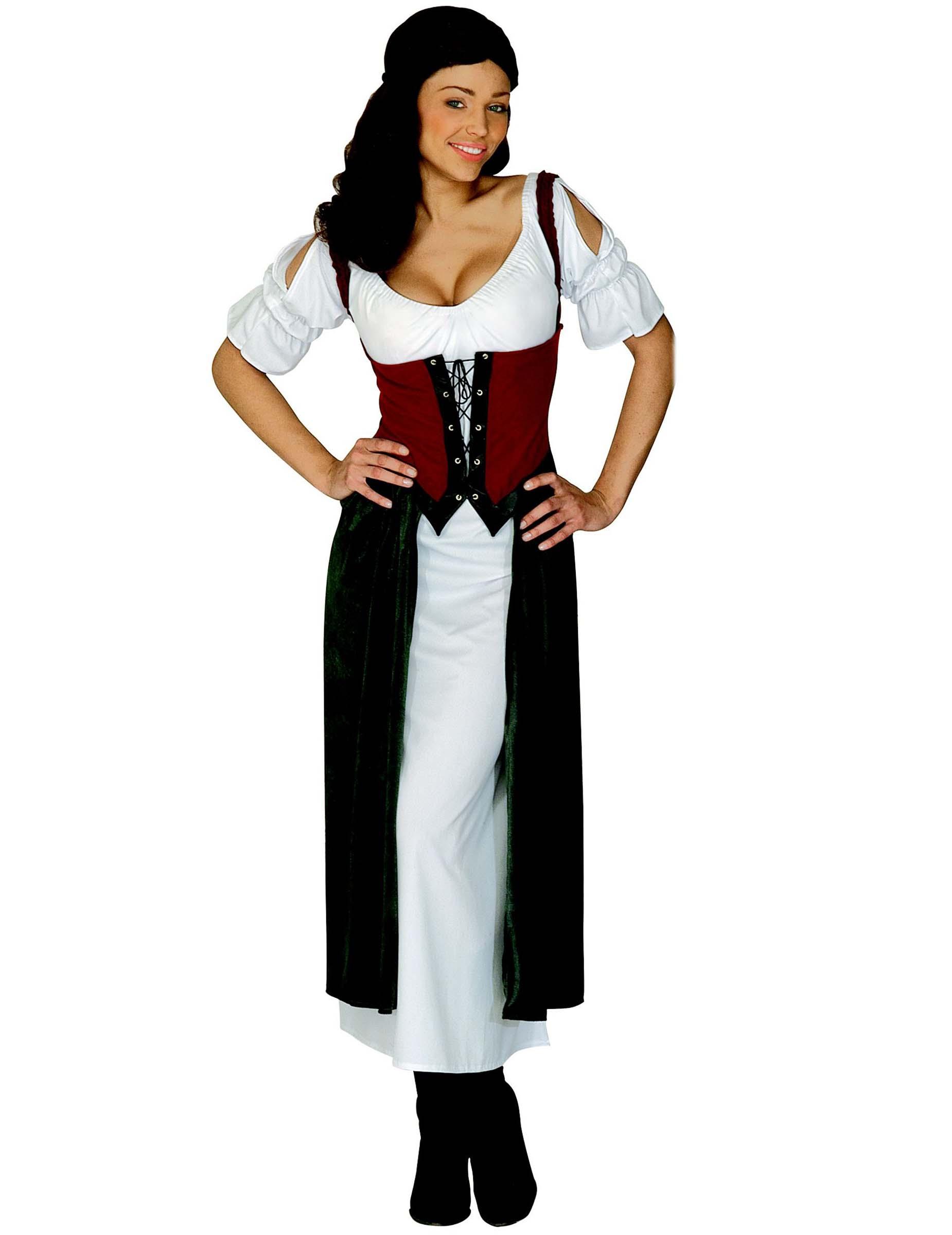 Costume Contadino Donna Costumi Adultie Vestiti Di Carnevale