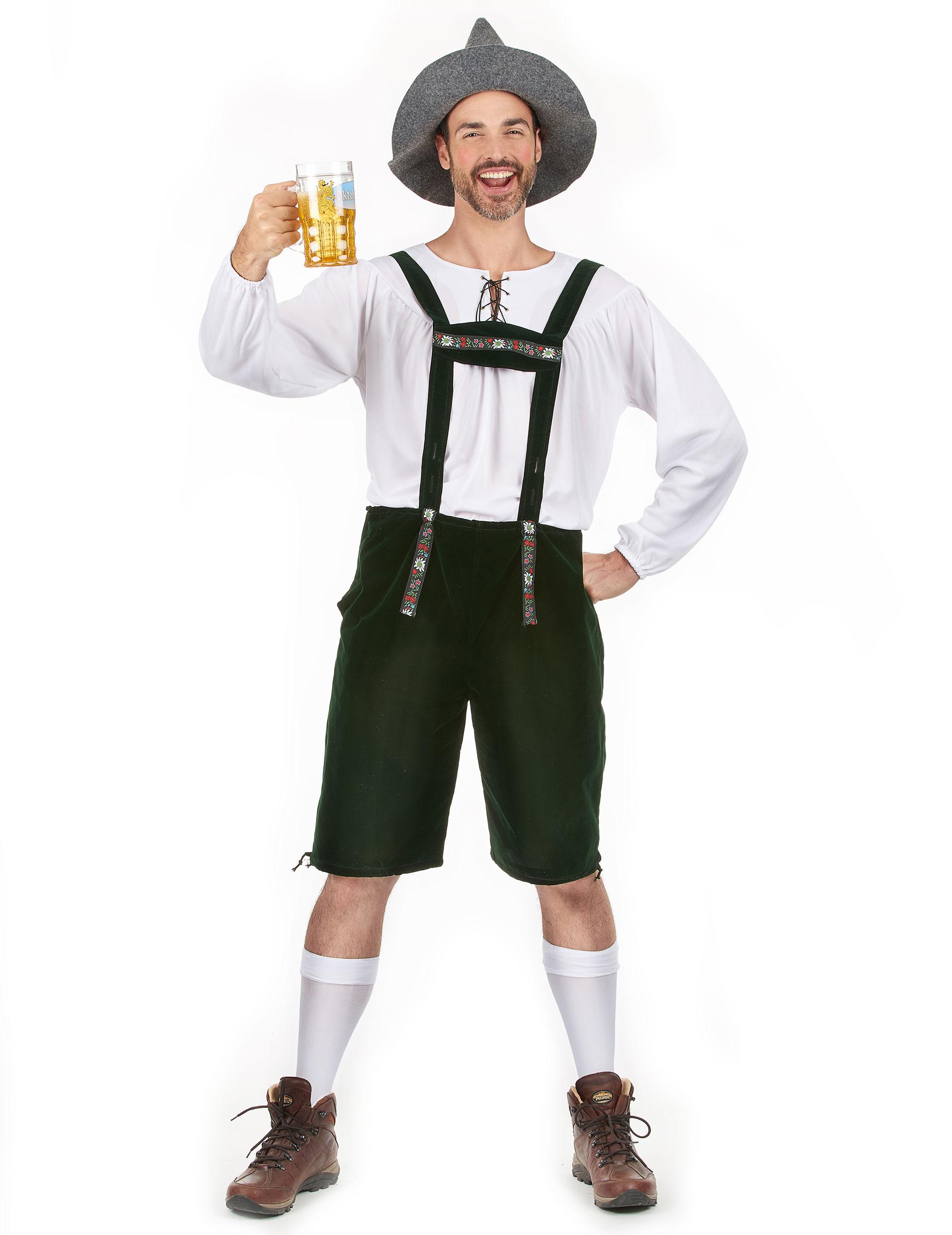 Da Uomo Tedesca Oktoberfest Costume Birra Uomo Vestito S-XL