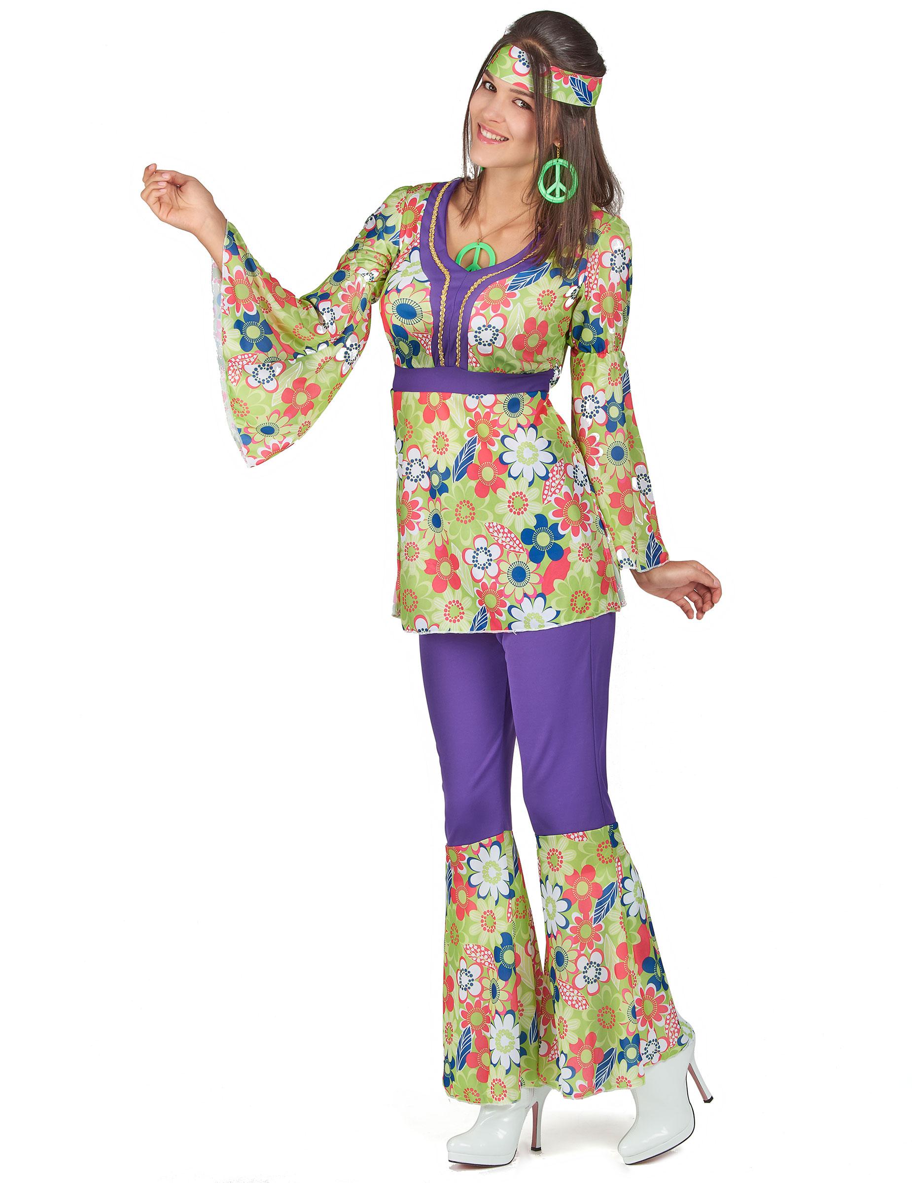 Costume hippy donna Costumi adultie vestiti di carnevale online - Vegaoo