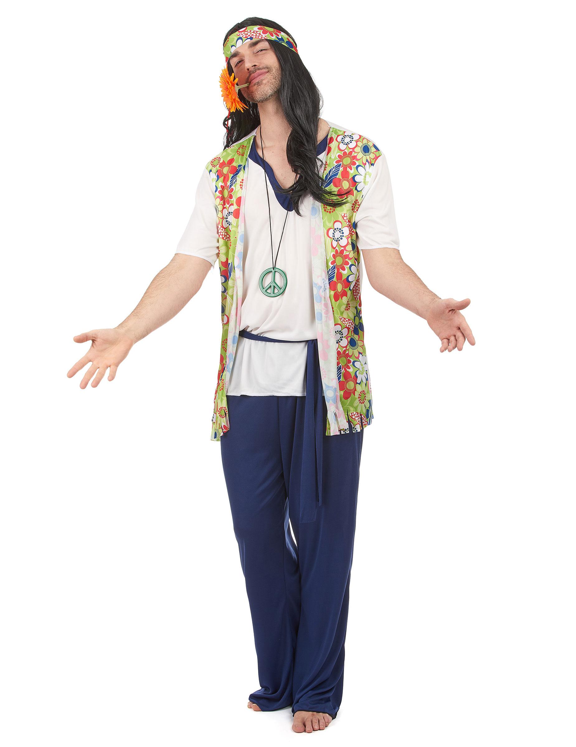 Costume hippy con gilet per uomo f3f27ad8052