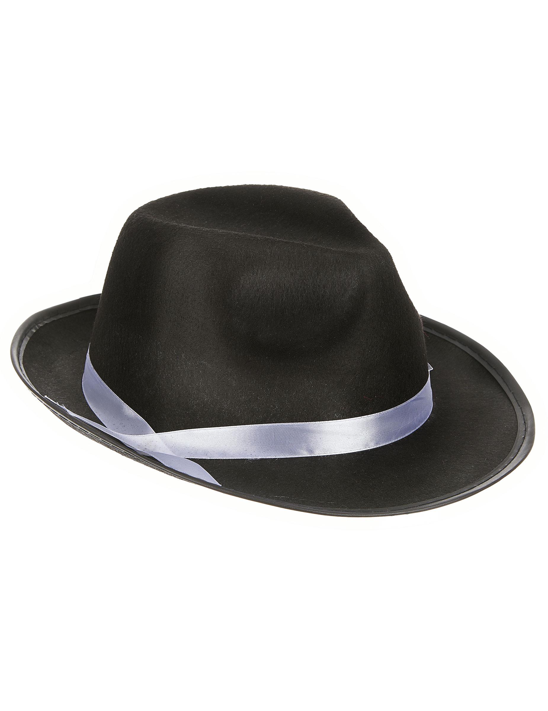 Cappello da gangster nero per adulto  Cappelli ce72ac168a7d