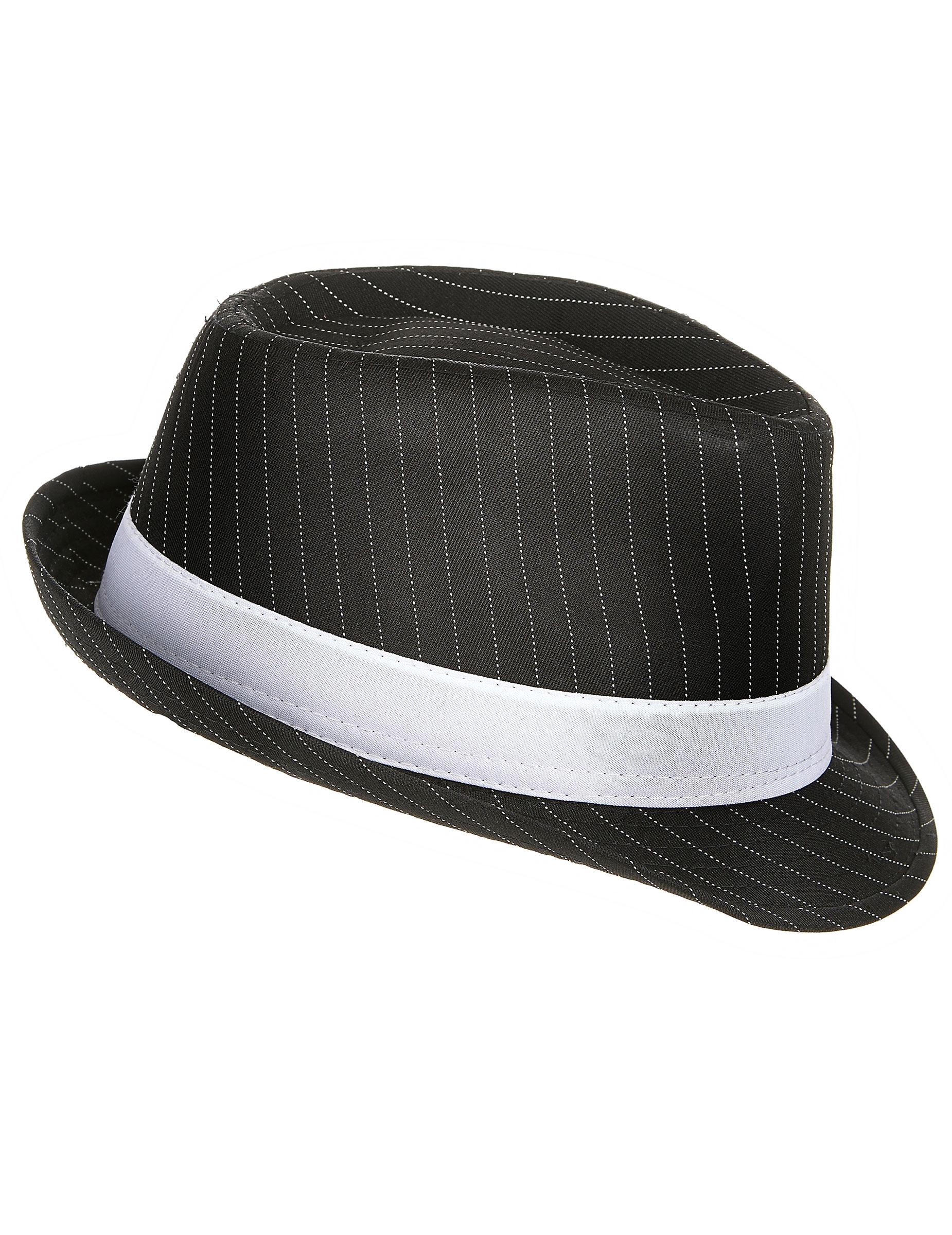 Cappello gangster nero a righe adulto 1ccd6daa848e