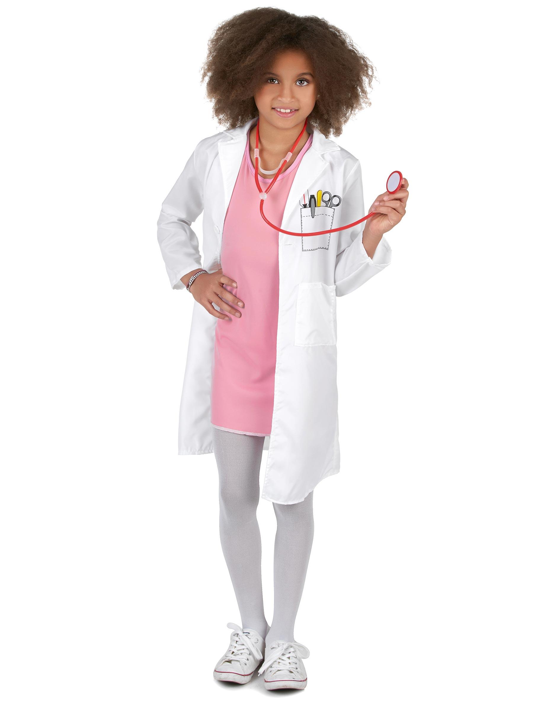 prima qualità Raccogliere tessuti pregiati Costume dottore bambina