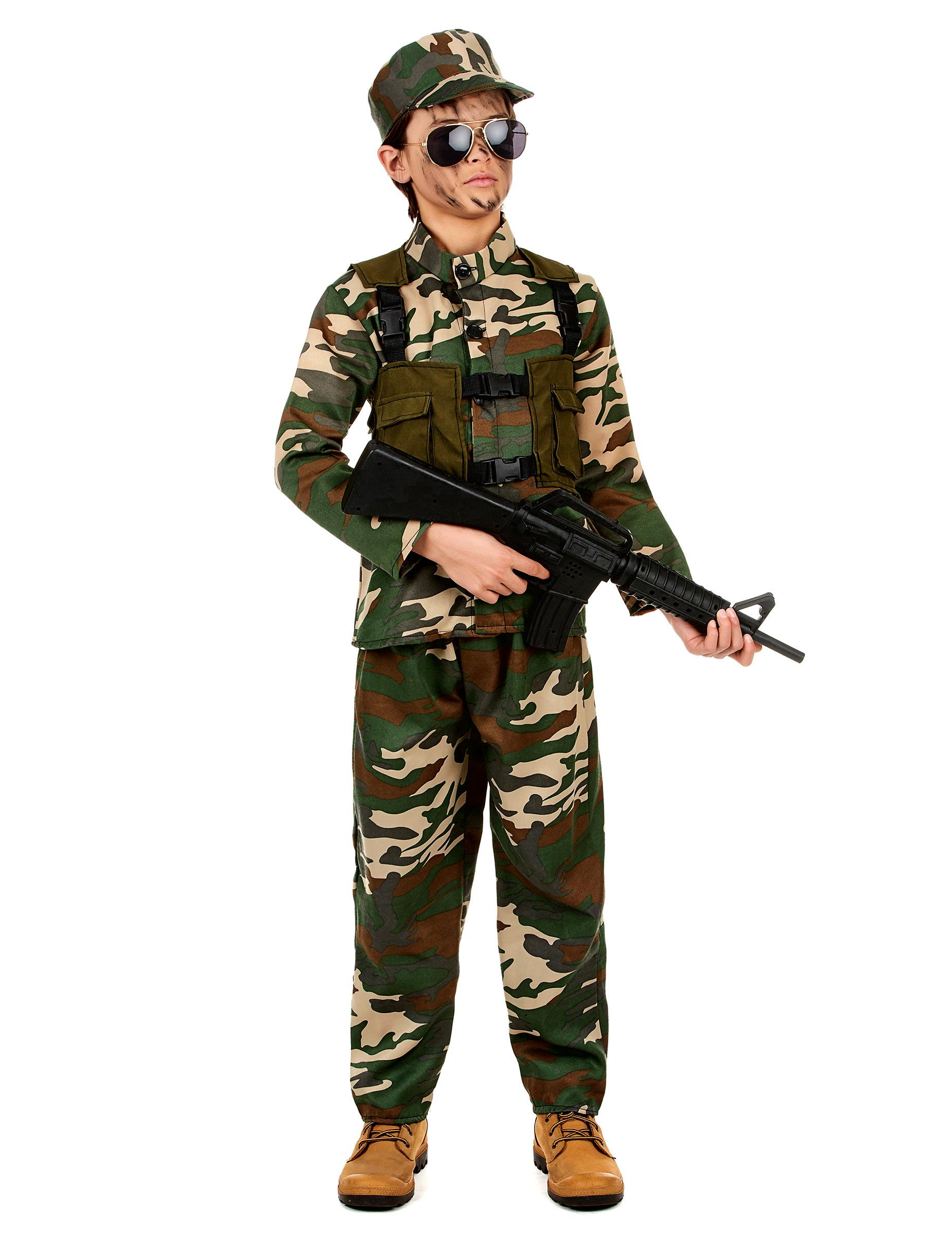 Costume militare con berretto per bambino  Costumi bambini 084e0305cfe3