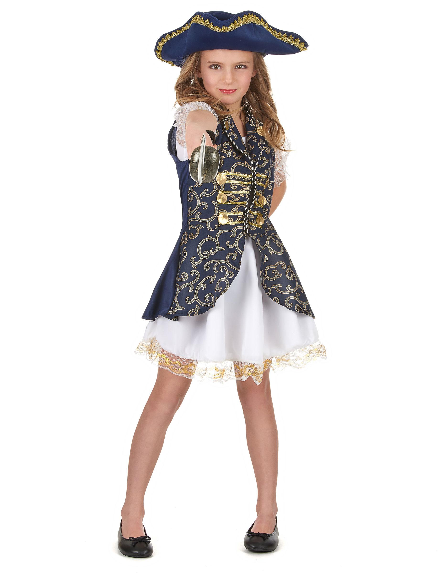 abbastanza Costume blu scuro pirata bambina: Costumi bambini,e vestiti di  LX77