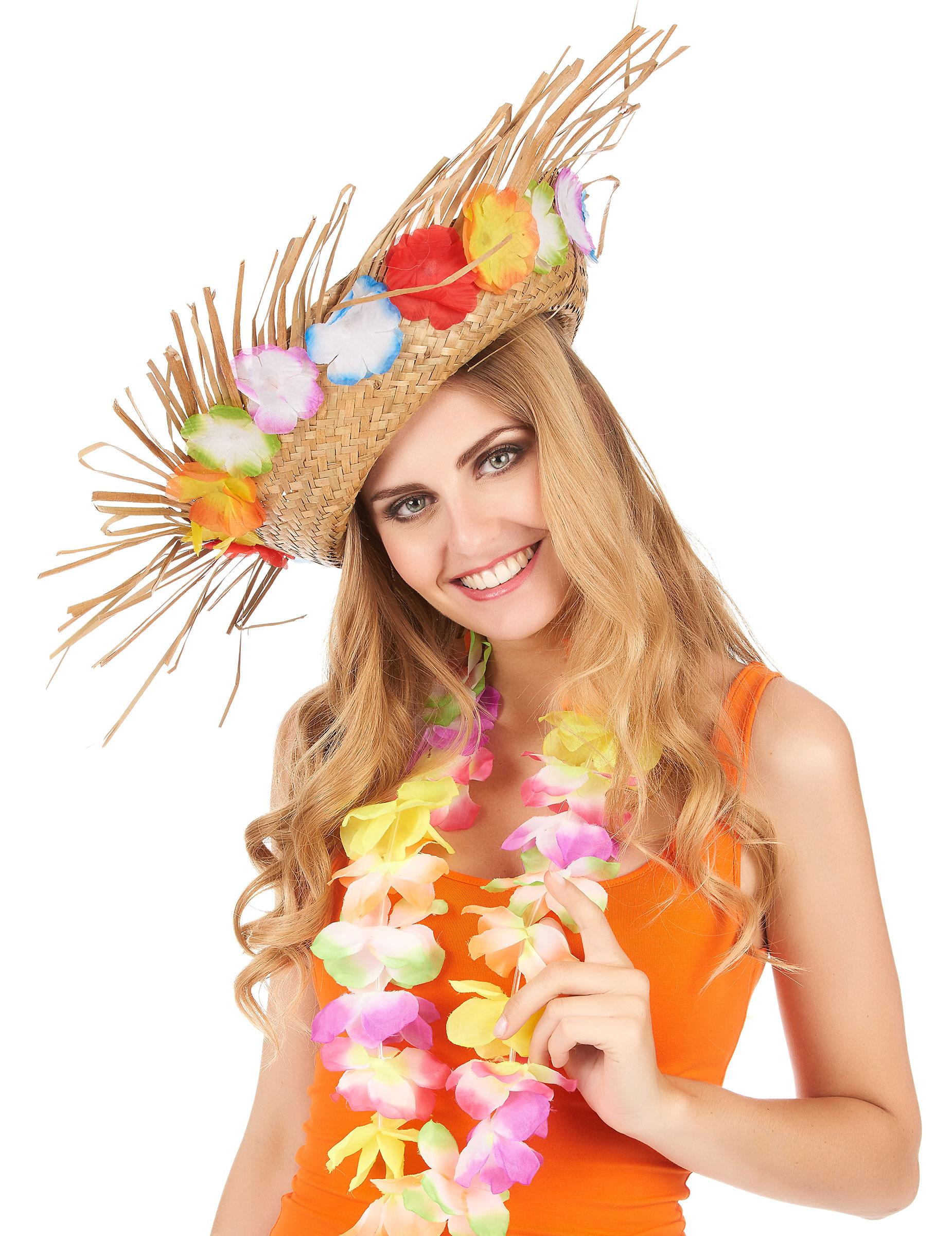 Cappello di paglia Hawaii  Cappelli 6fbb73e46297