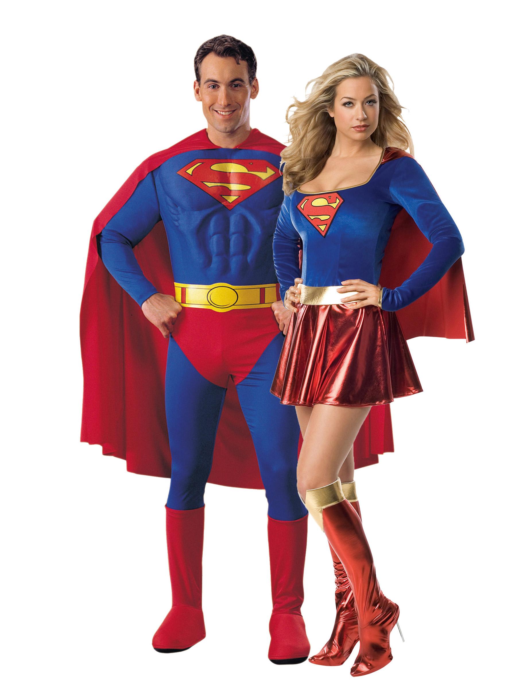 Costume Coppia Superman E Supergirl Costumi Coppiae Vestiti Di