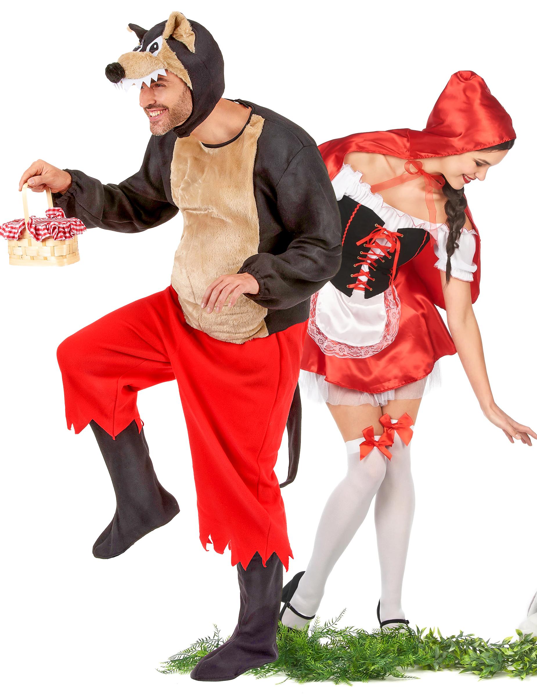 Bien connu Costume coppia Cappuccetto Rosso e Lupo cattivo: Costumi coppia,e  QU39
