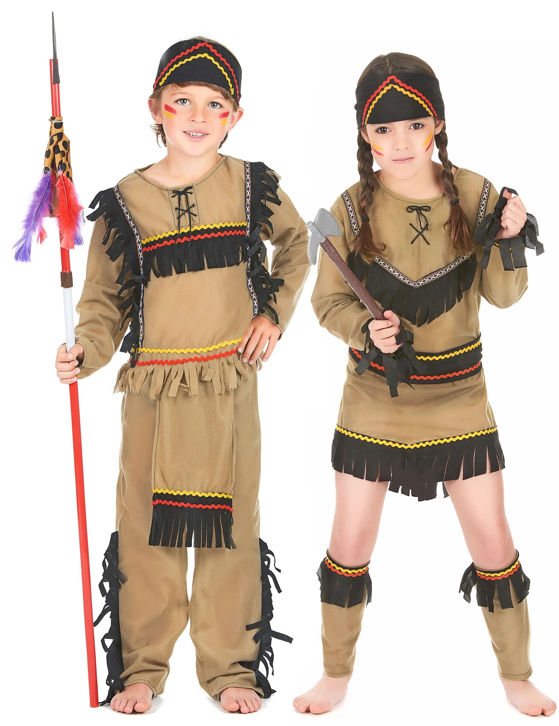 indiana carnevale bambina  Costume coppia indiani bambini: Costumi coppia,e vestiti di ...