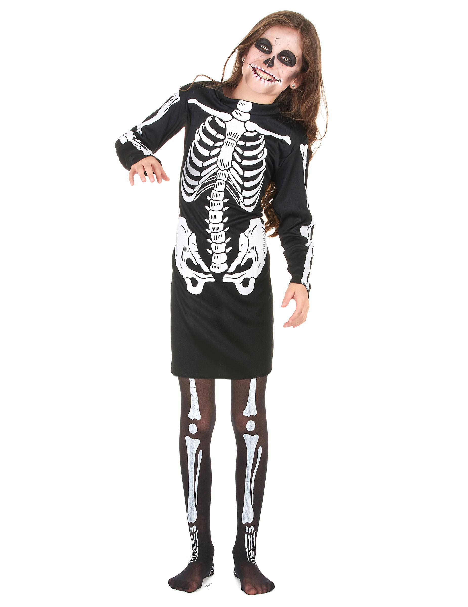 Costume da scheletro per bambina - Halloween 5b23ac87c49