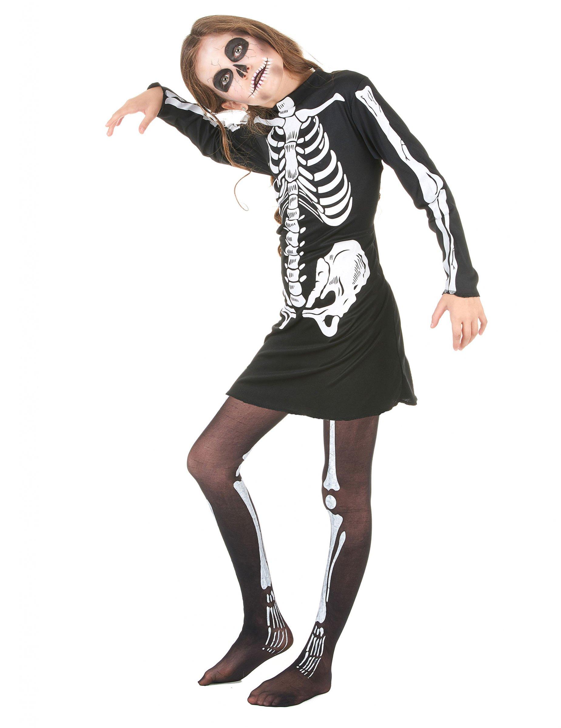 Costume da scheletro per bambina - Halloween  Costumi bambini 1da283bd5ac7