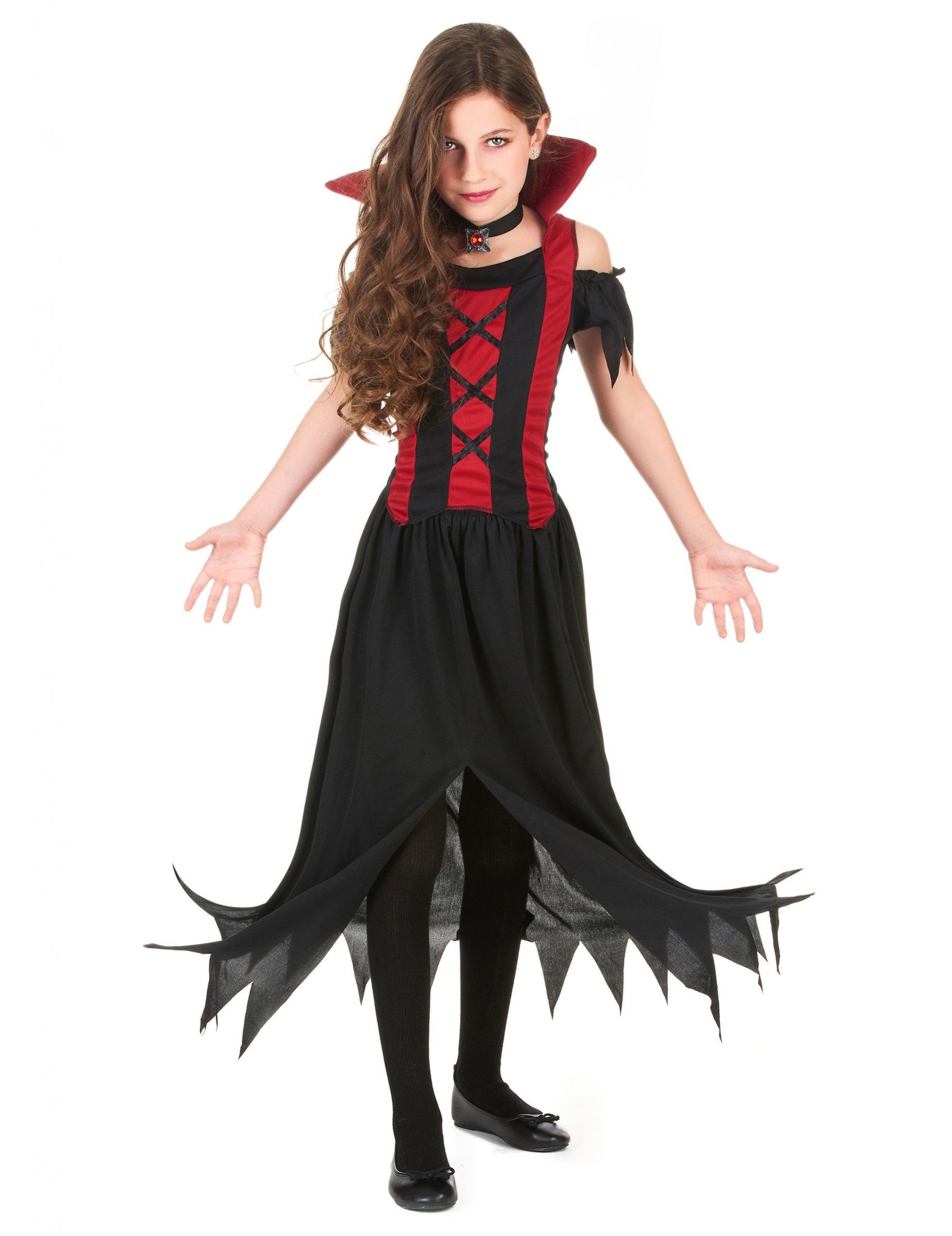 costume da vampiro per bambina halloween costumi bambini. Black Bedroom Furniture Sets. Home Design Ideas