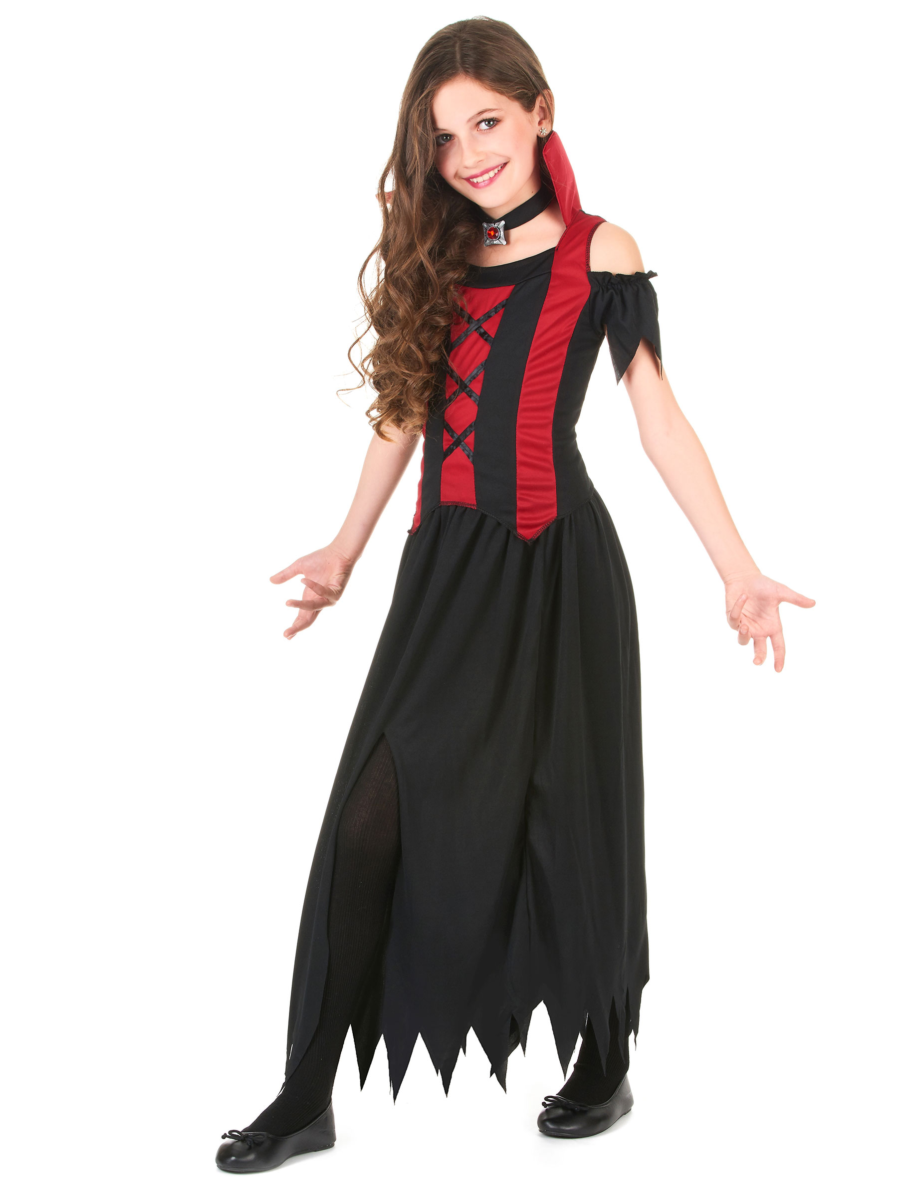 costume da vampiro per bambina halloween costumi bambini. Black Bedroom Furniture Sets. Home Design Ideas