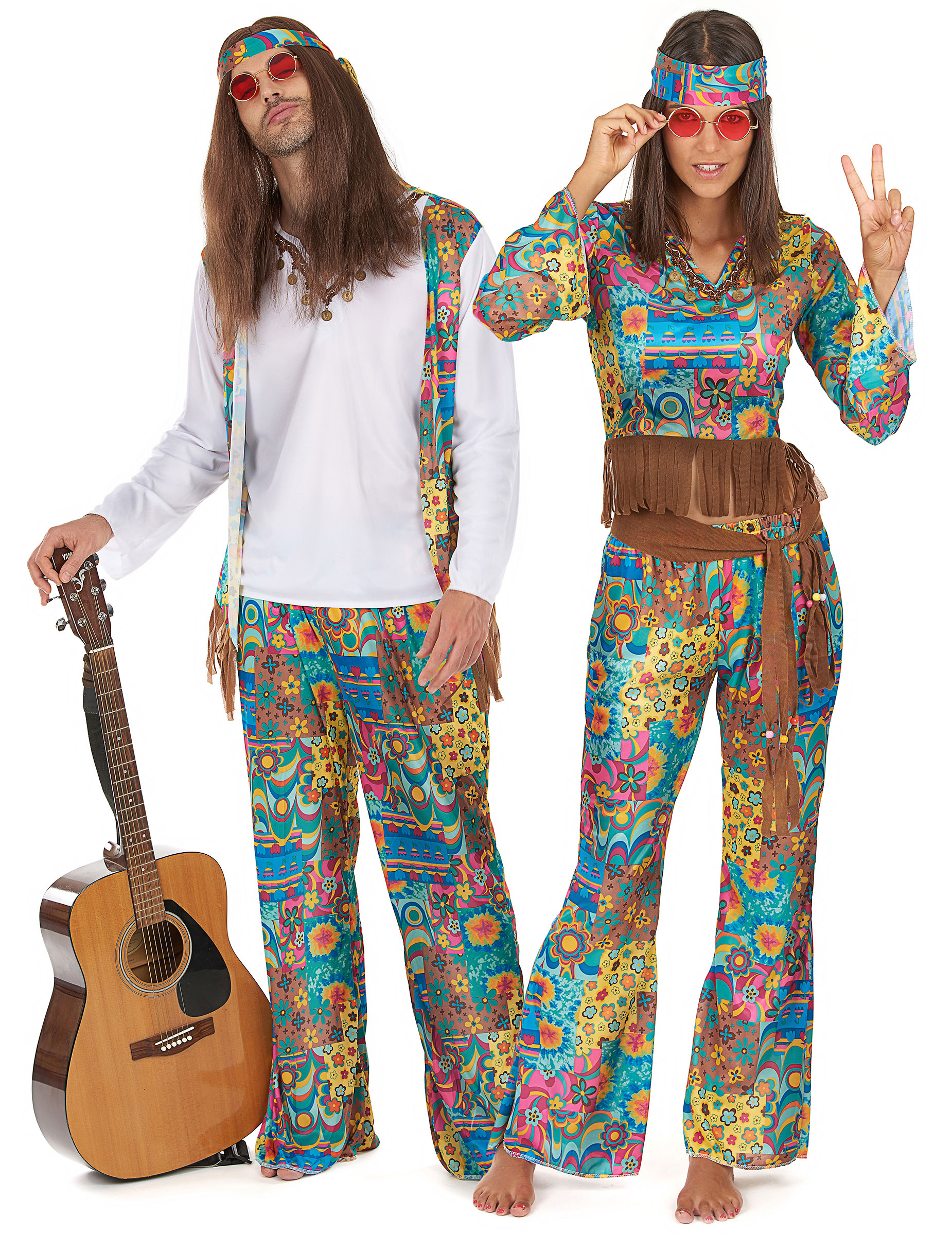 Costumi da hippy figli dei fiori  Costumi coppia 6255a9a1ef8