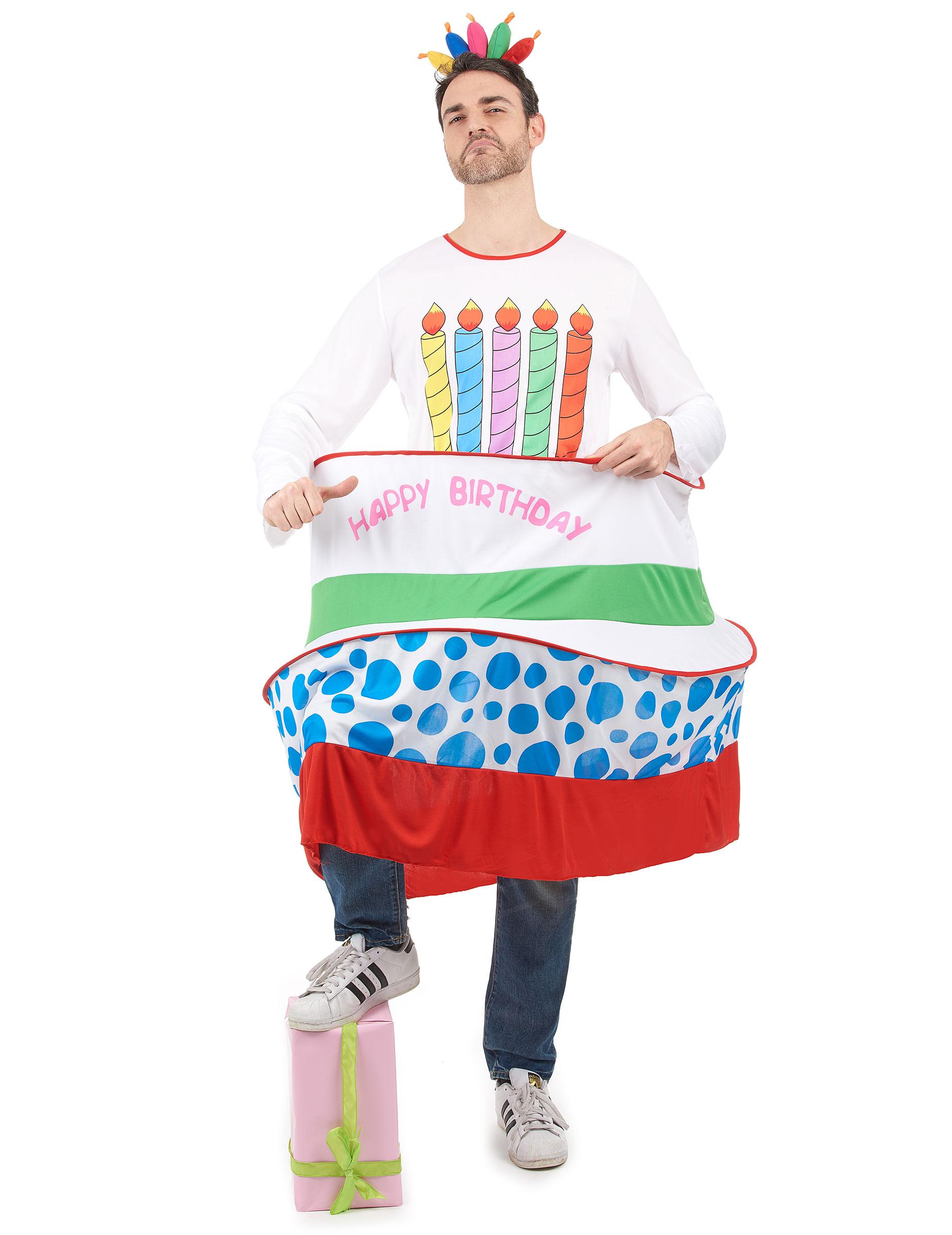 anteprima di informazioni per marchio famoso Costume torta di compleanno uomo