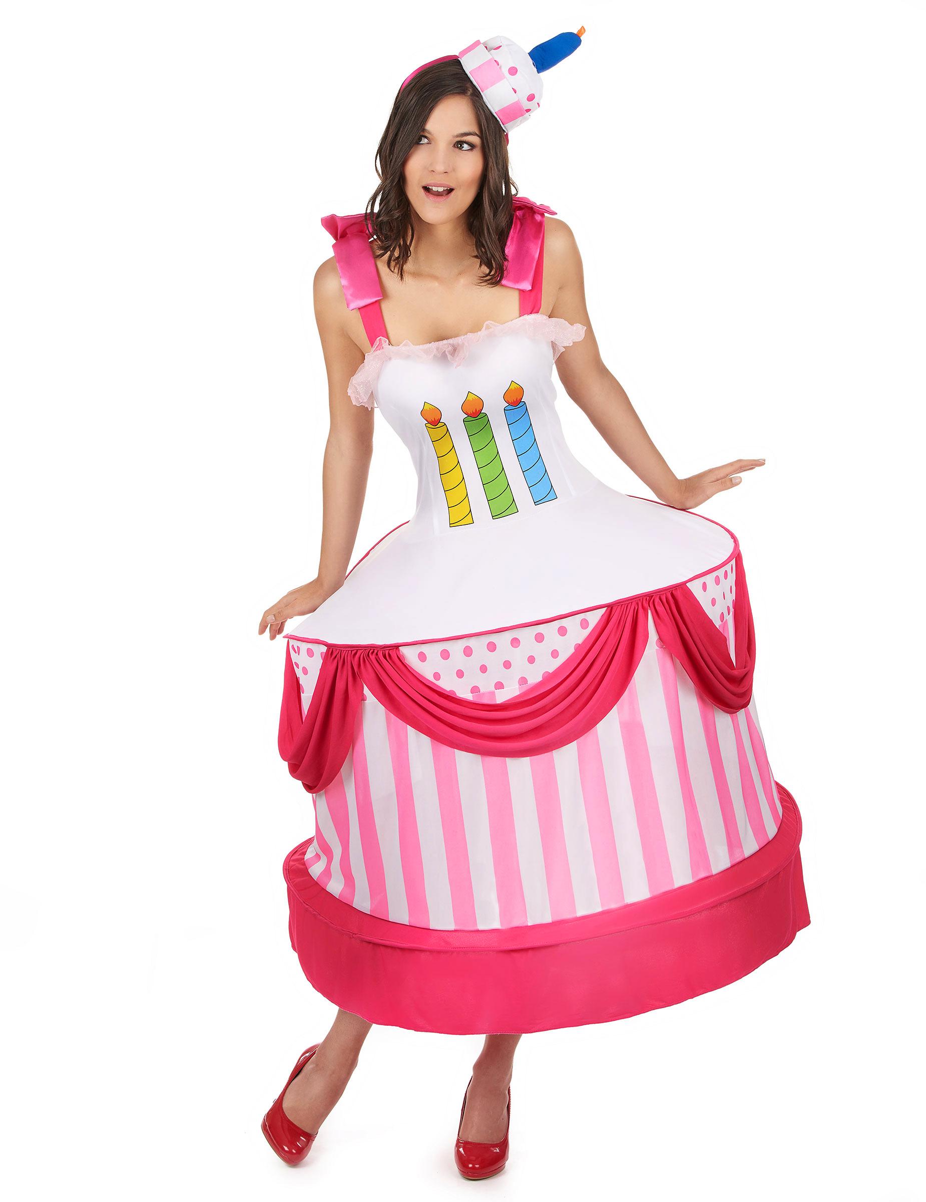 costume torta di compleanno donna costumi adulti e vestiti di carnevale online vegaoo. Black Bedroom Furniture Sets. Home Design Ideas