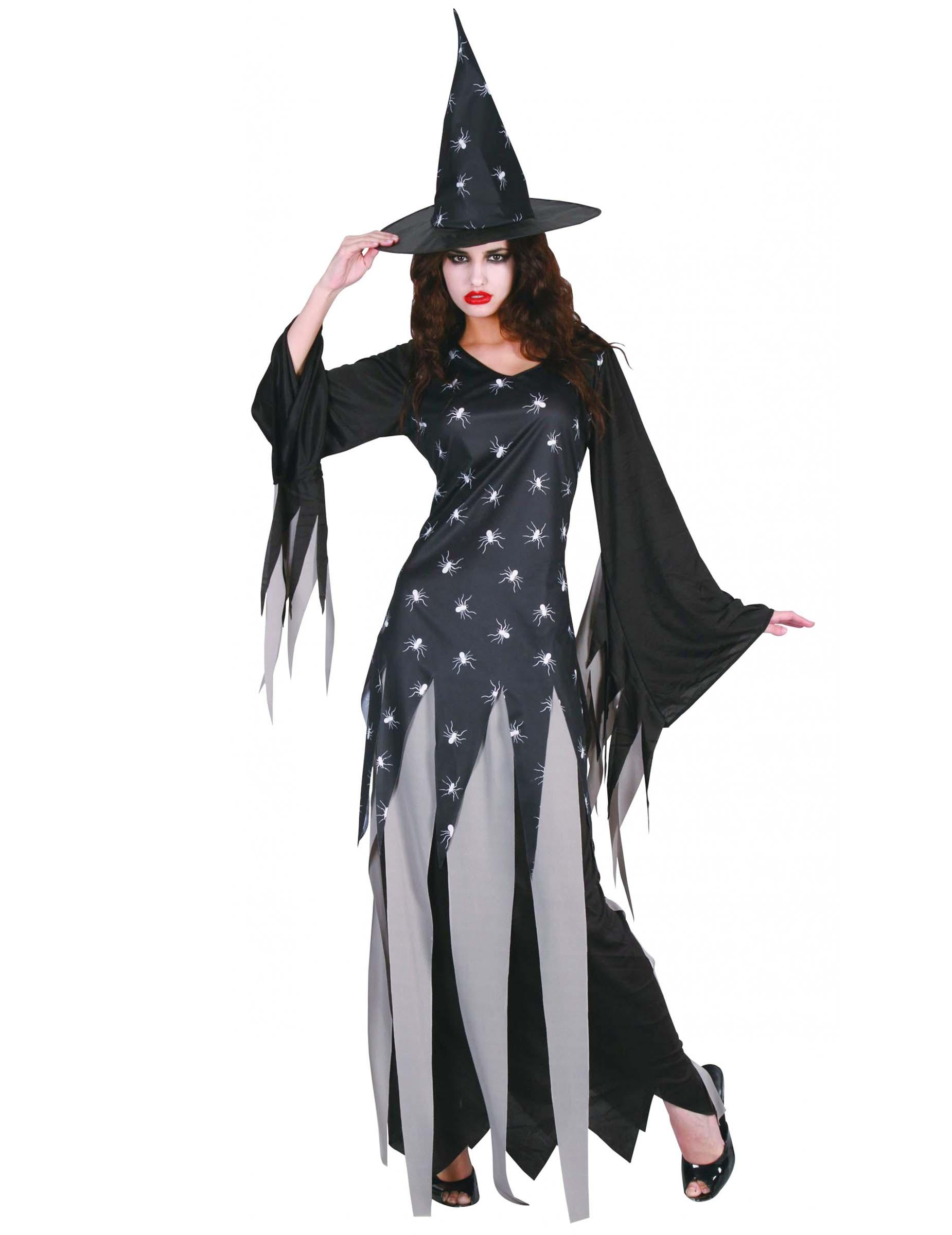 Cappello STREGA Adulti Nero Ragno Donna Halloween Costume Accessorio