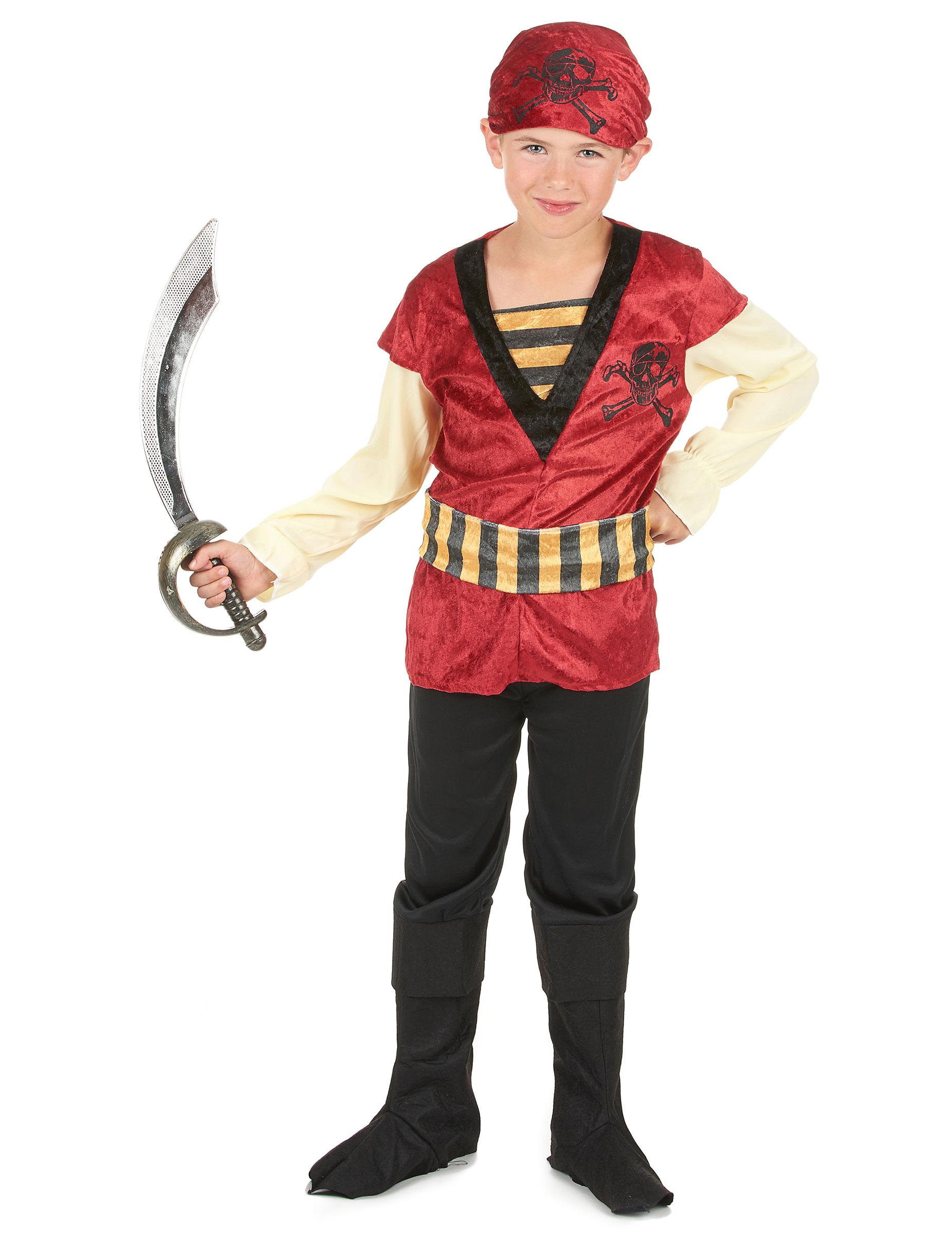 Costume pirata bambino per ragazzo - Costume da bagno velluto ...