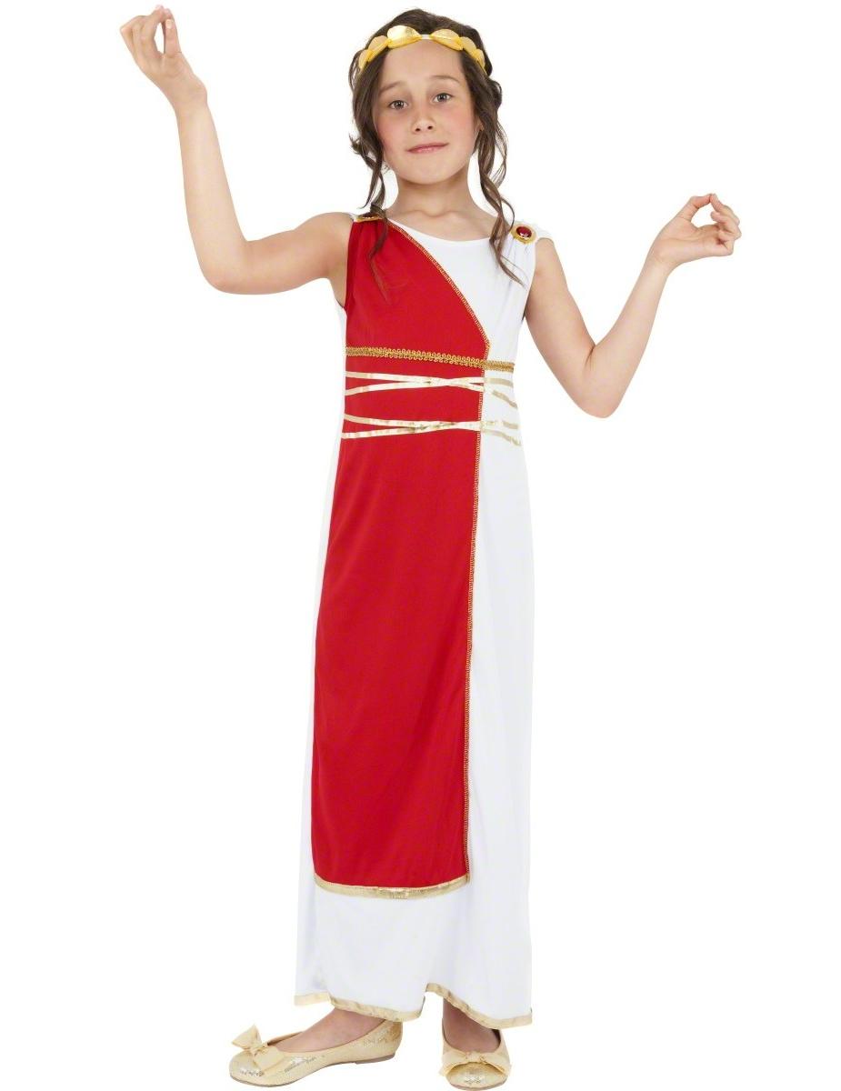 Costume Da Dea Romana Per Bambina Costumi Bambinie Vestiti Di