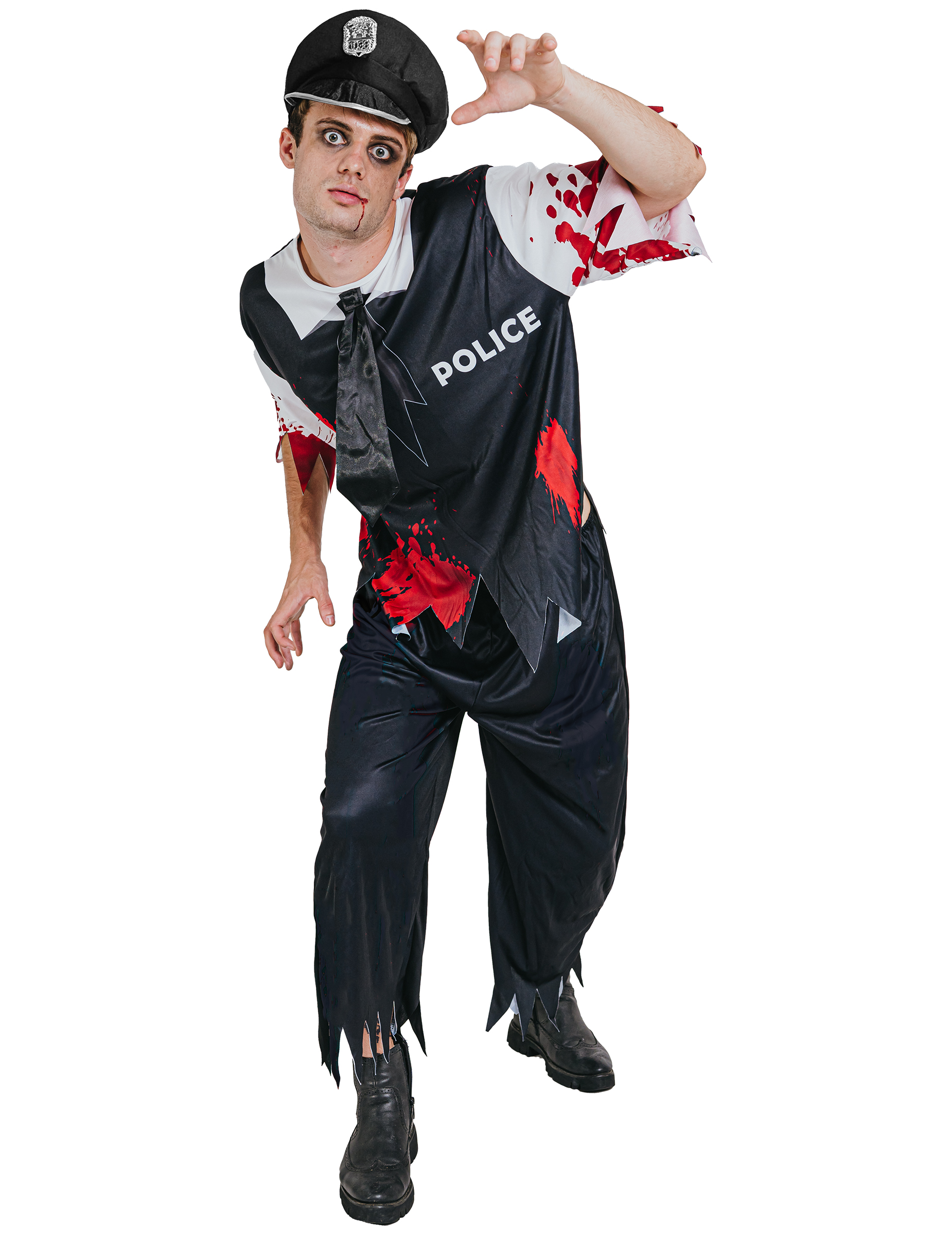 Costumi Halloween Adulti.Costume Poliziotto Zombie Adulto Halloween