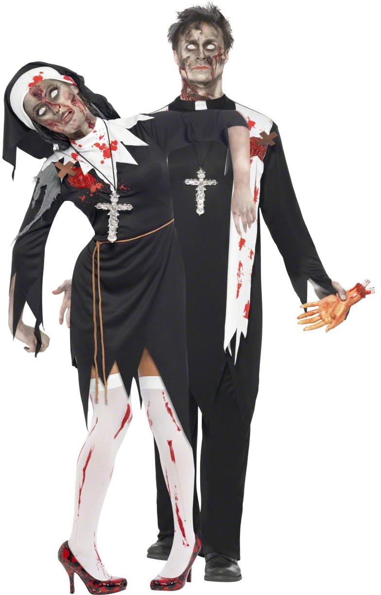 Travestimento coppia prete e suora zombie 17bc7fc1c7e7