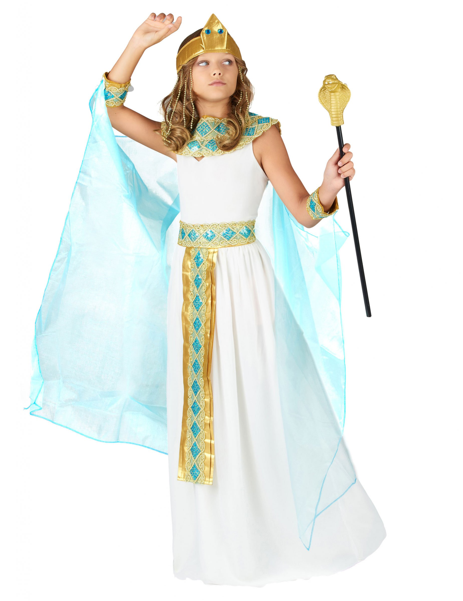 Costume regina egiziana bambina  Costumi bambini c364c616983
