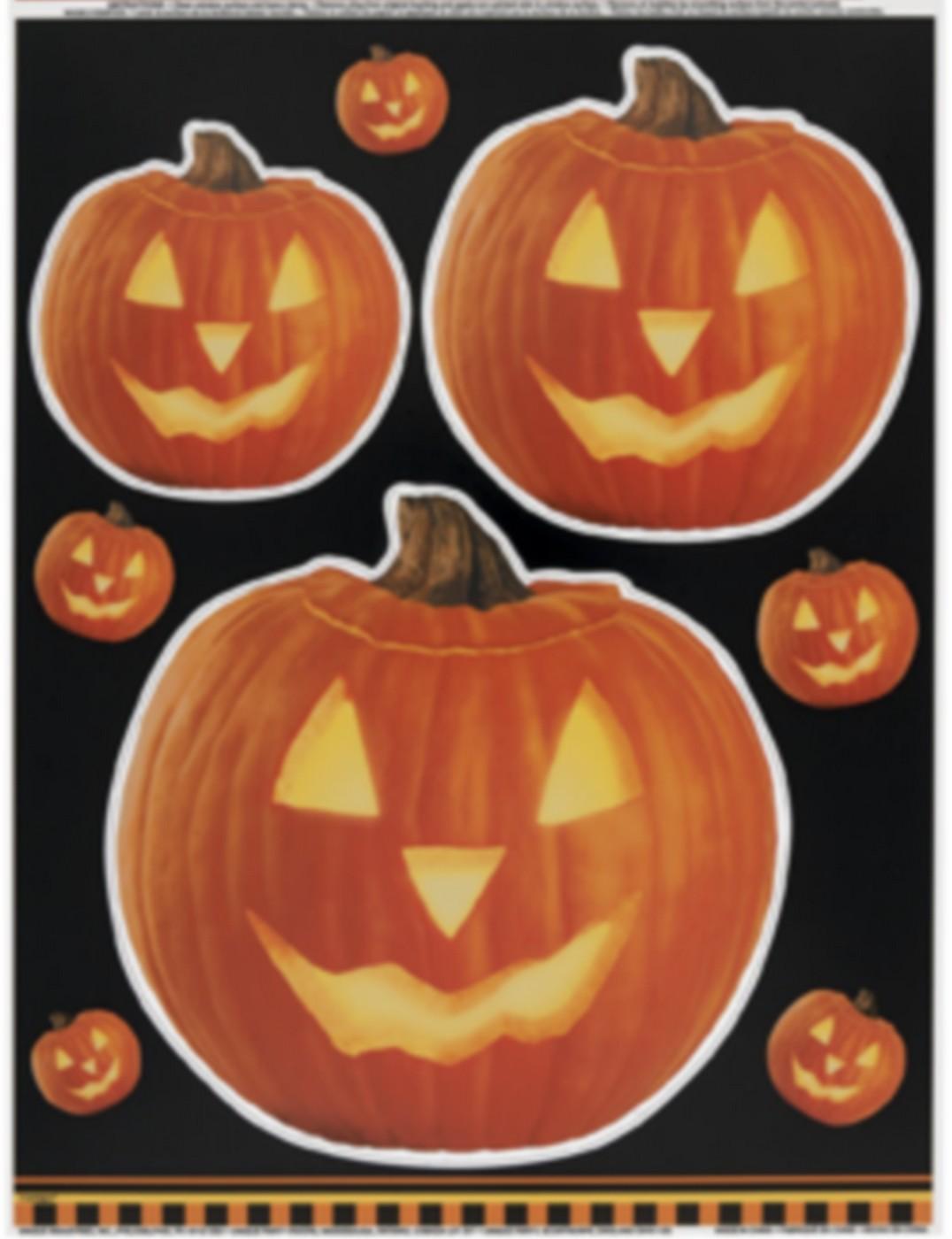 Adesivi per finestre zucca halloween addobbi e vestiti di - Adesivi per finestre ...