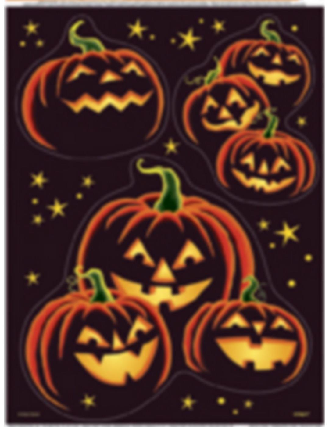 Adesivi per finestre zucca nera halloween addobbi e - Adesivi per finestre ...