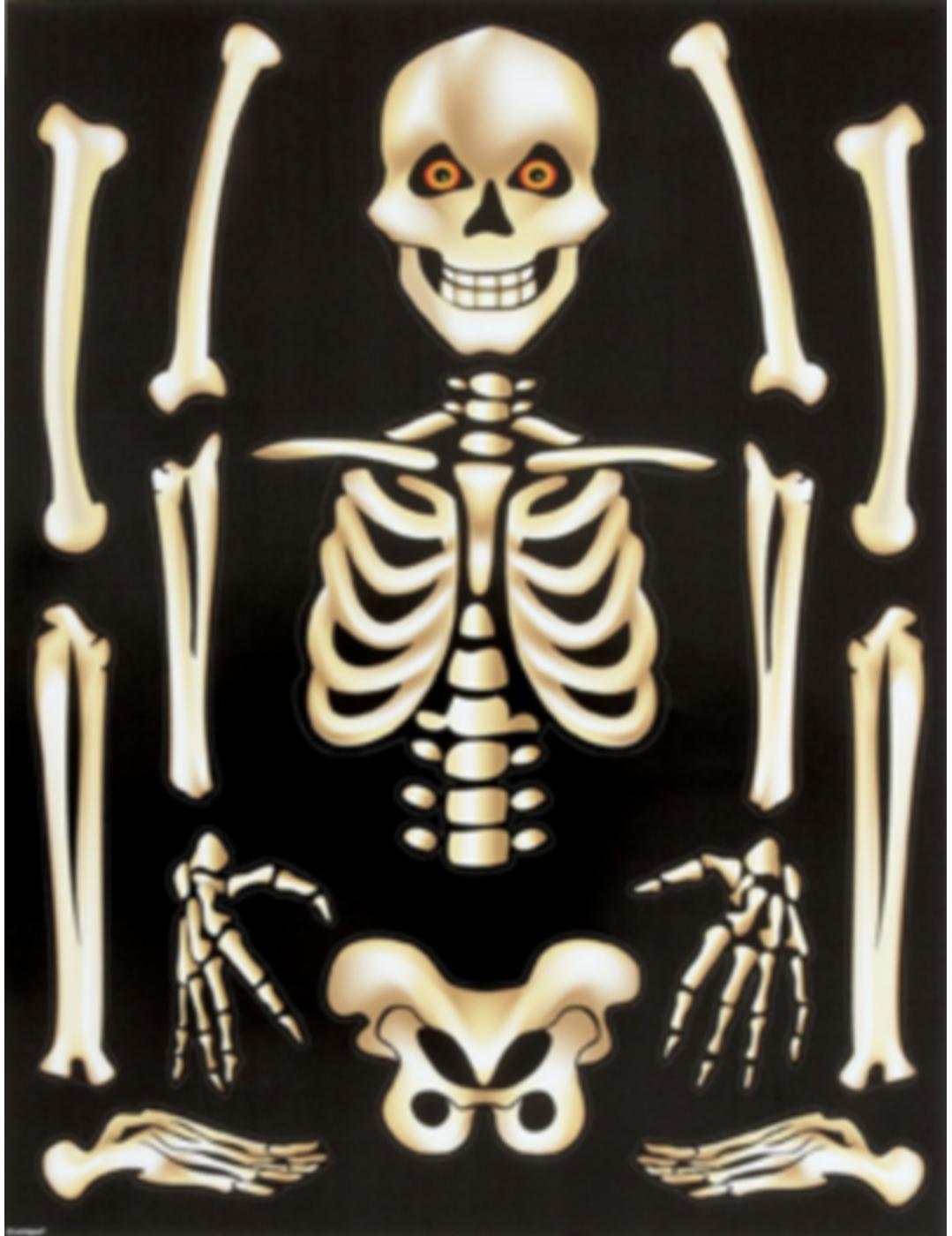 Adesivi per finestre scheletro halloween addobbi e - Adesivi natalizi per finestre ...