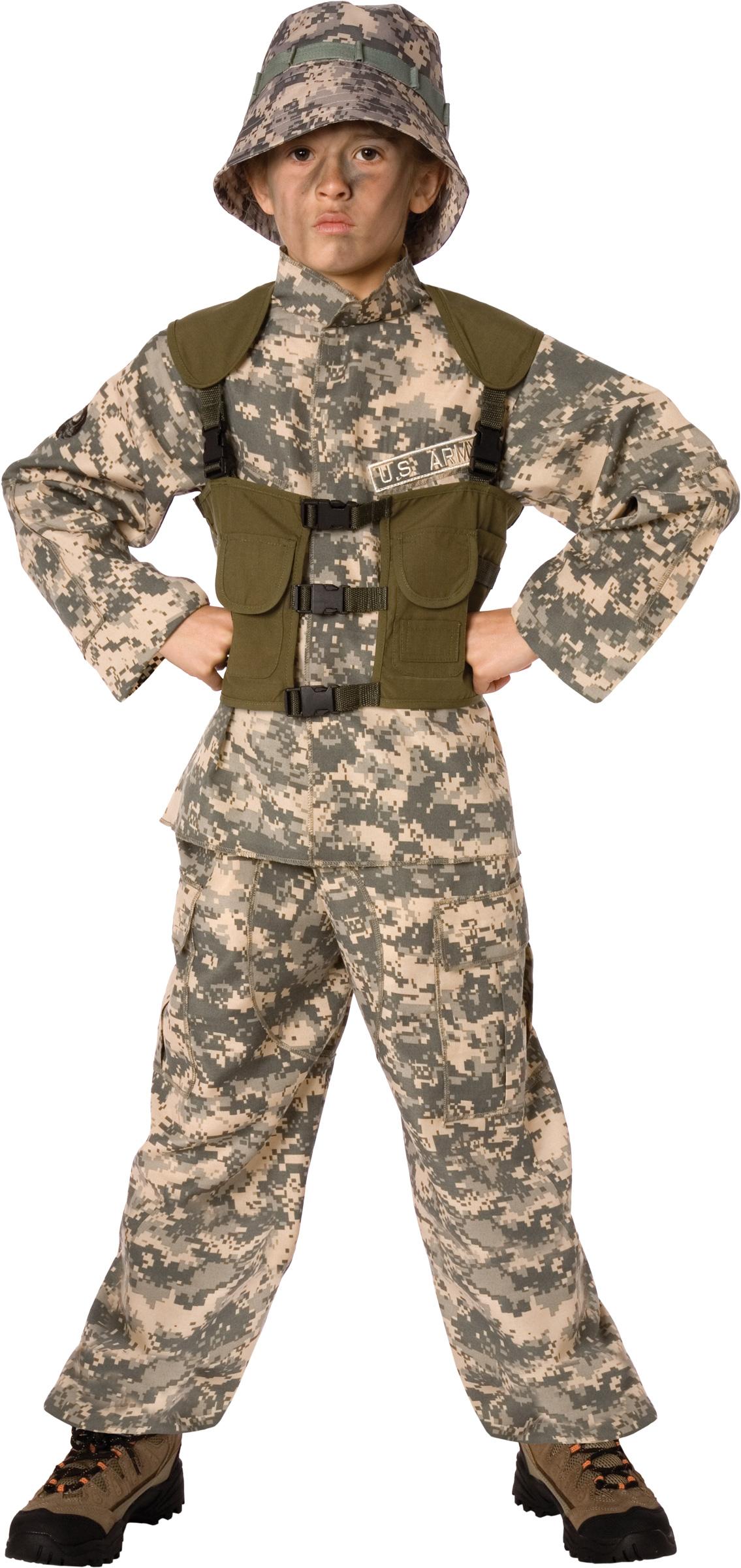 Costume militare con cappello per bambino  Costumi bambini e63870b1baac