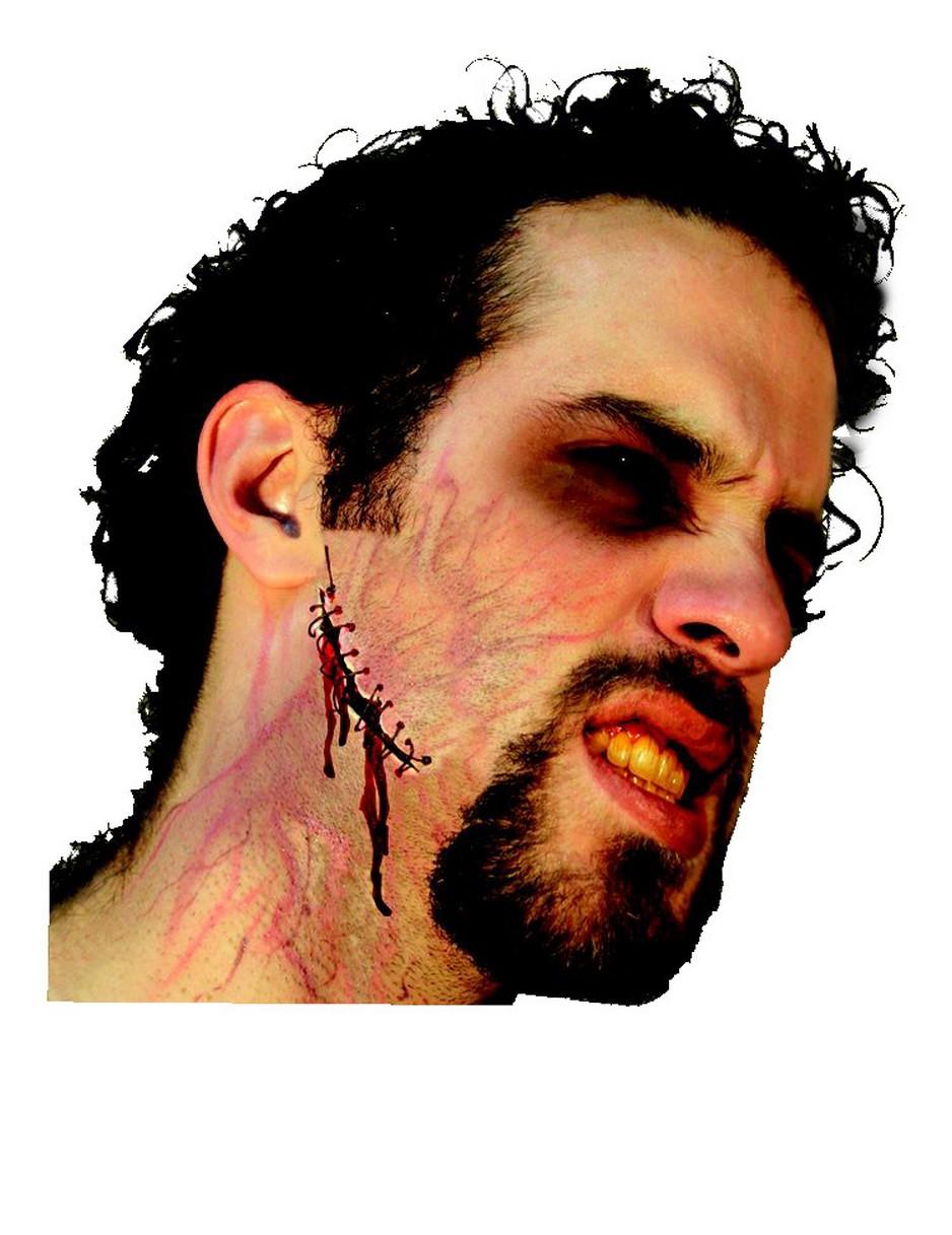 Finta cicatrice con punti adulto Halloween  Trucco 9ff1fada91c9
