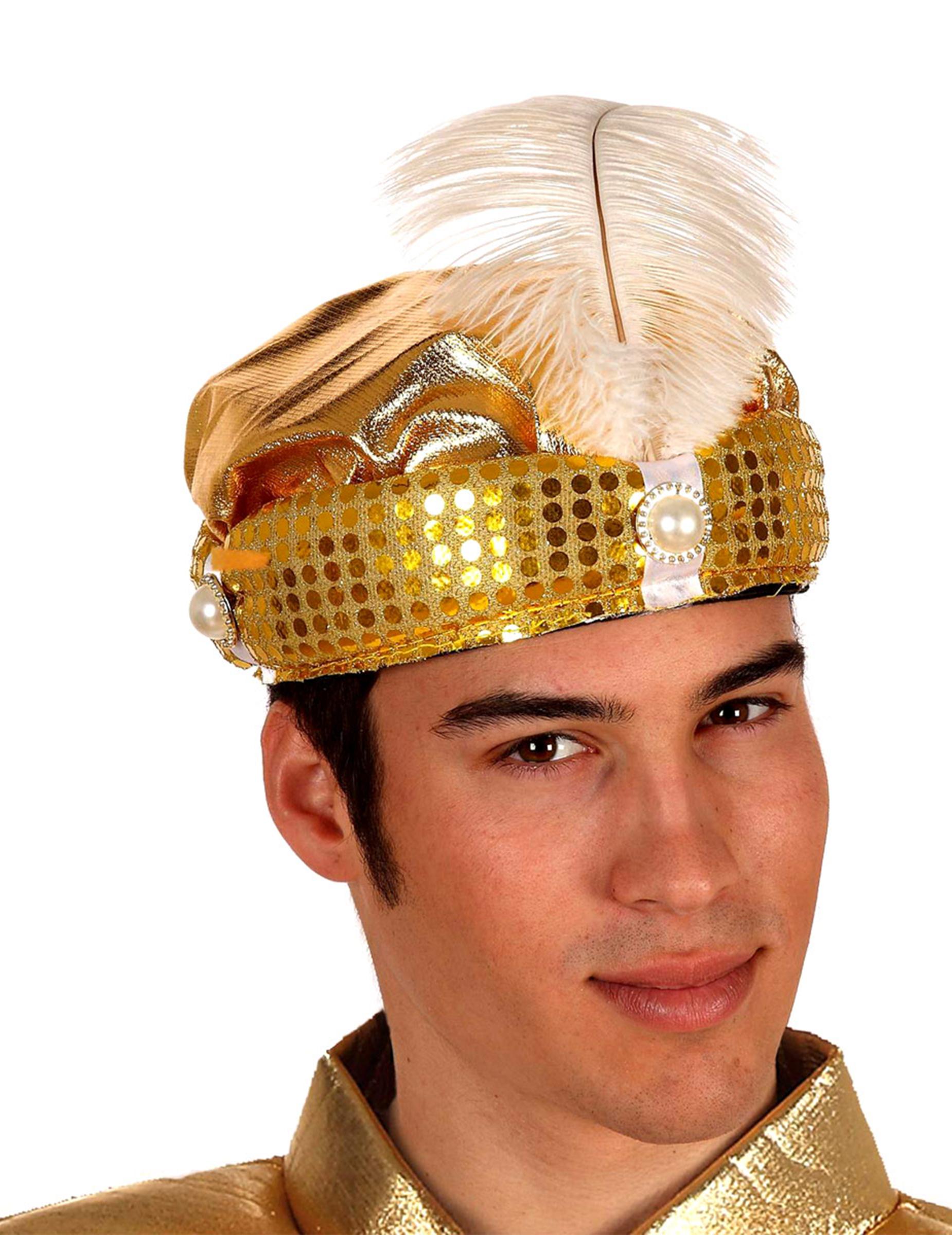 Cappello arabo adulti dorato  Cappelli 7a9302b7f874