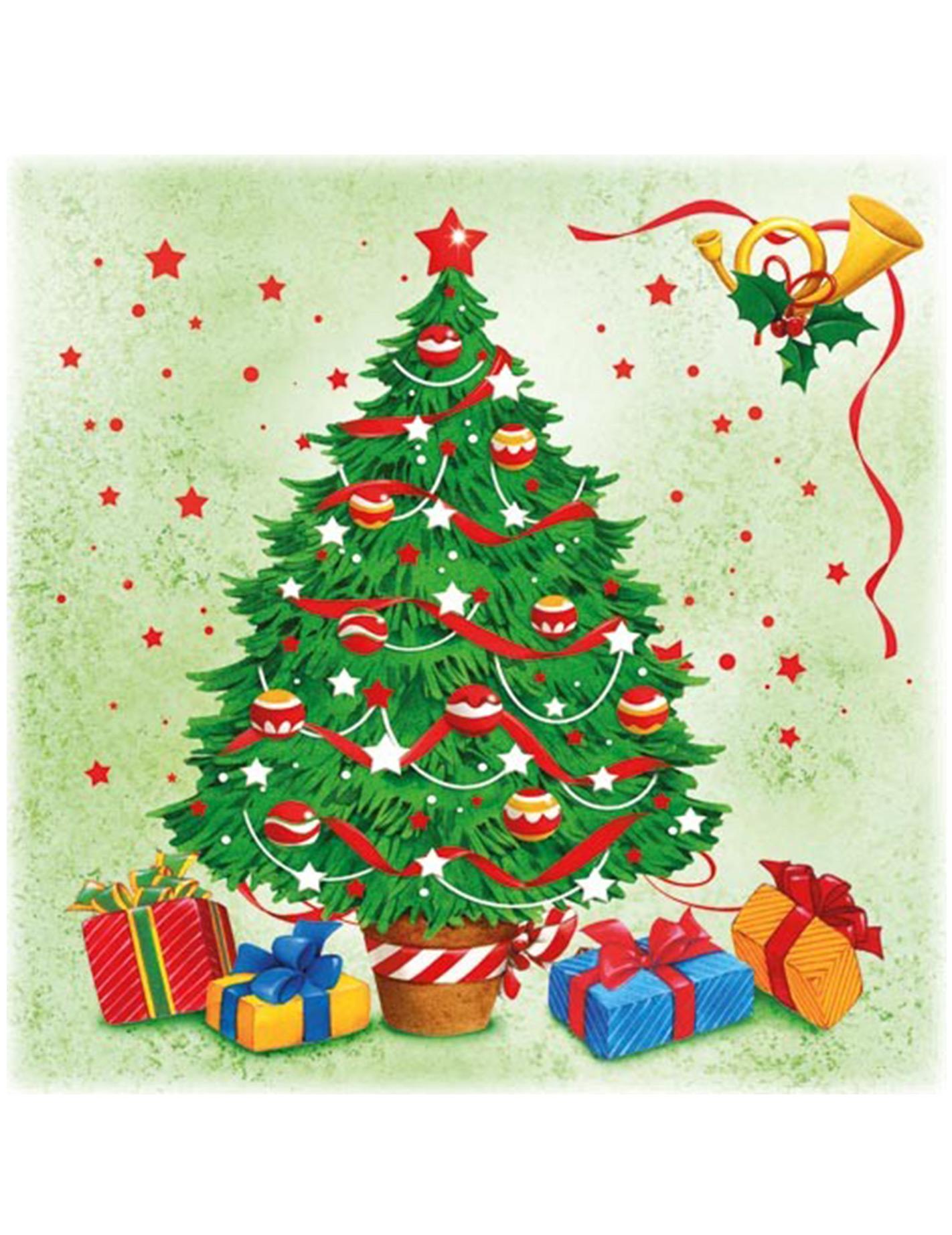 Confezione da 20 tovaglioli di carta christmas tree - Tovaglioli di carta decorati ...