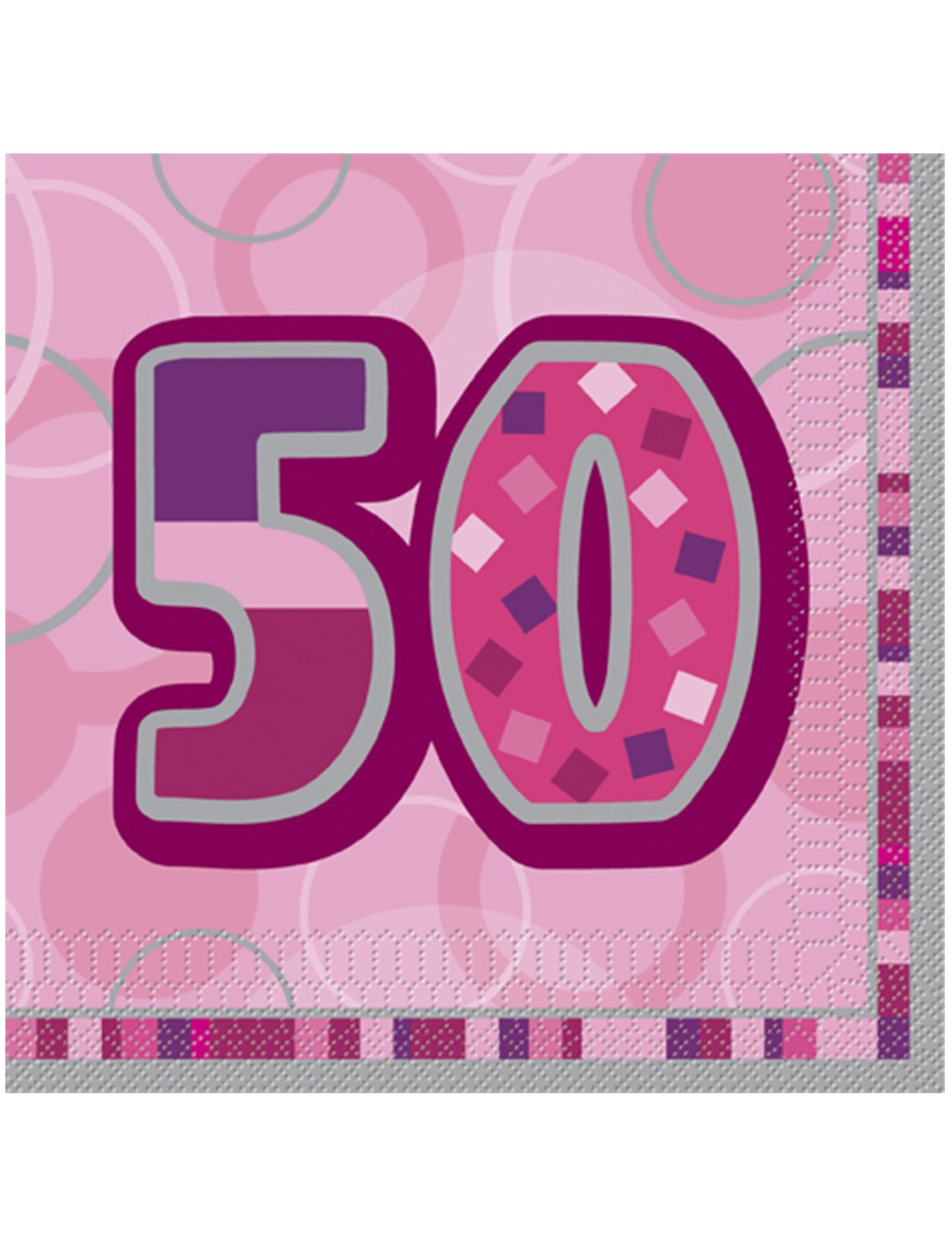 Super Confezione di 16 tovaglioli per i 50 anni di compleanno colore  CD17