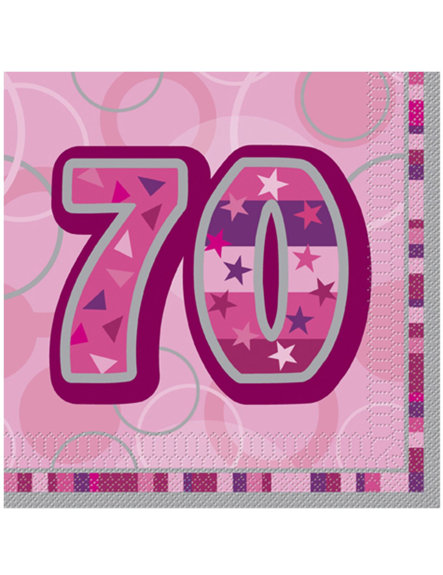 Anni 70 Colori confezione di 16 tovaglioli per i 70 anni di compleanno