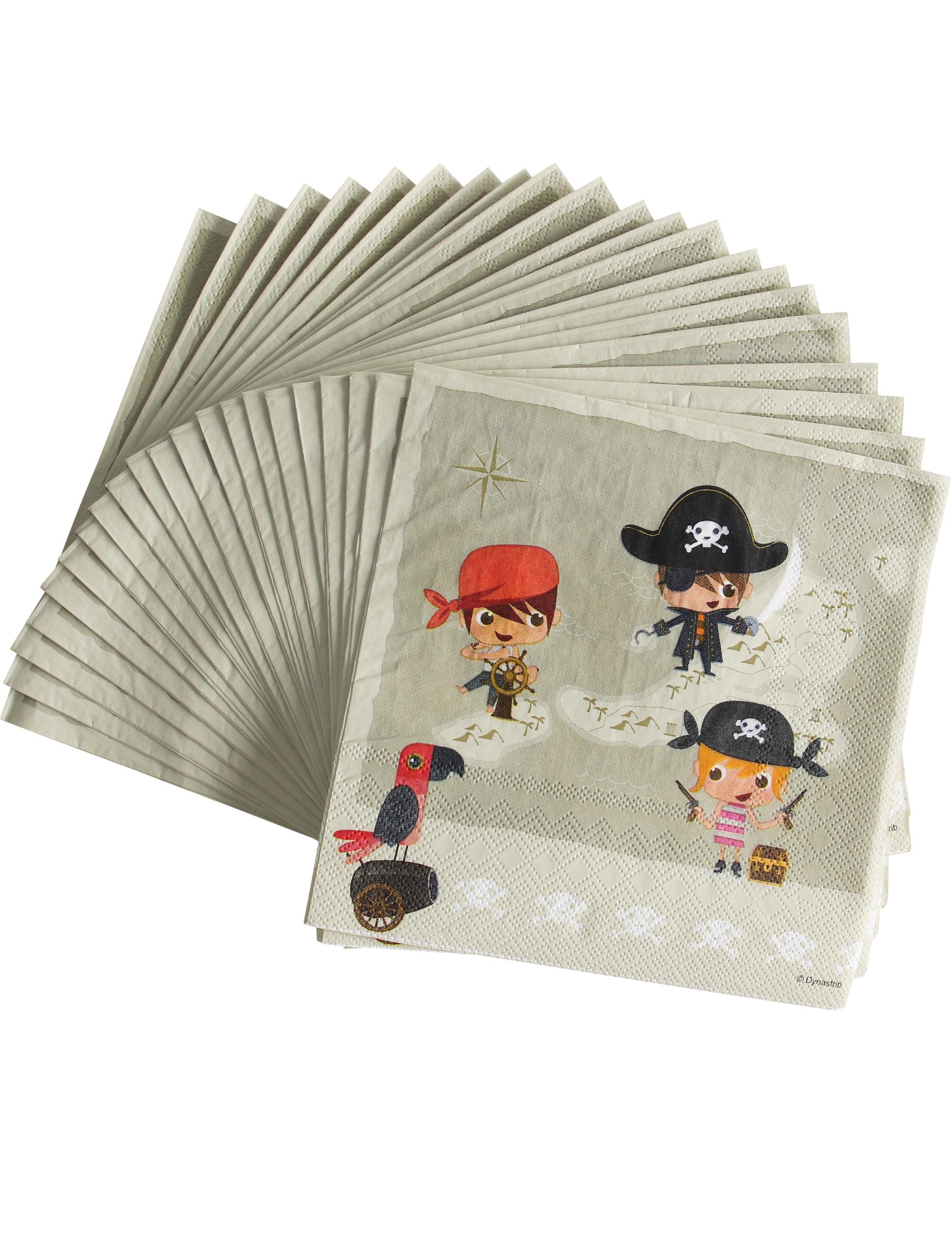 Piegare Tovaglioli Di Carta 20 tovaglioli di carta pirati