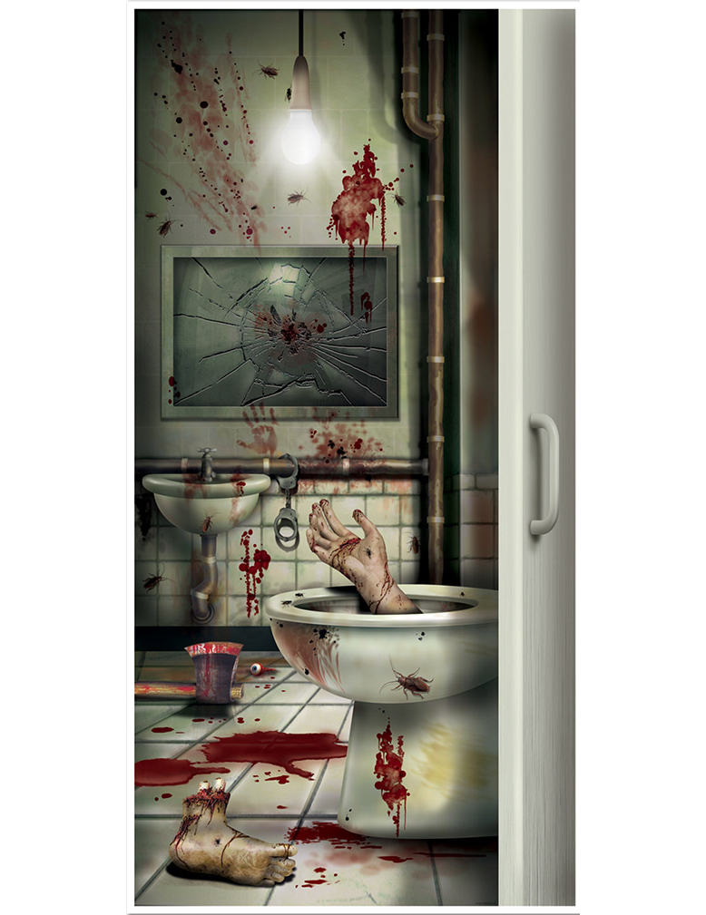 Decorazione porta bagno halloween addobbi e vestiti di carnevale online vegaoo - Decorazione bagno ...