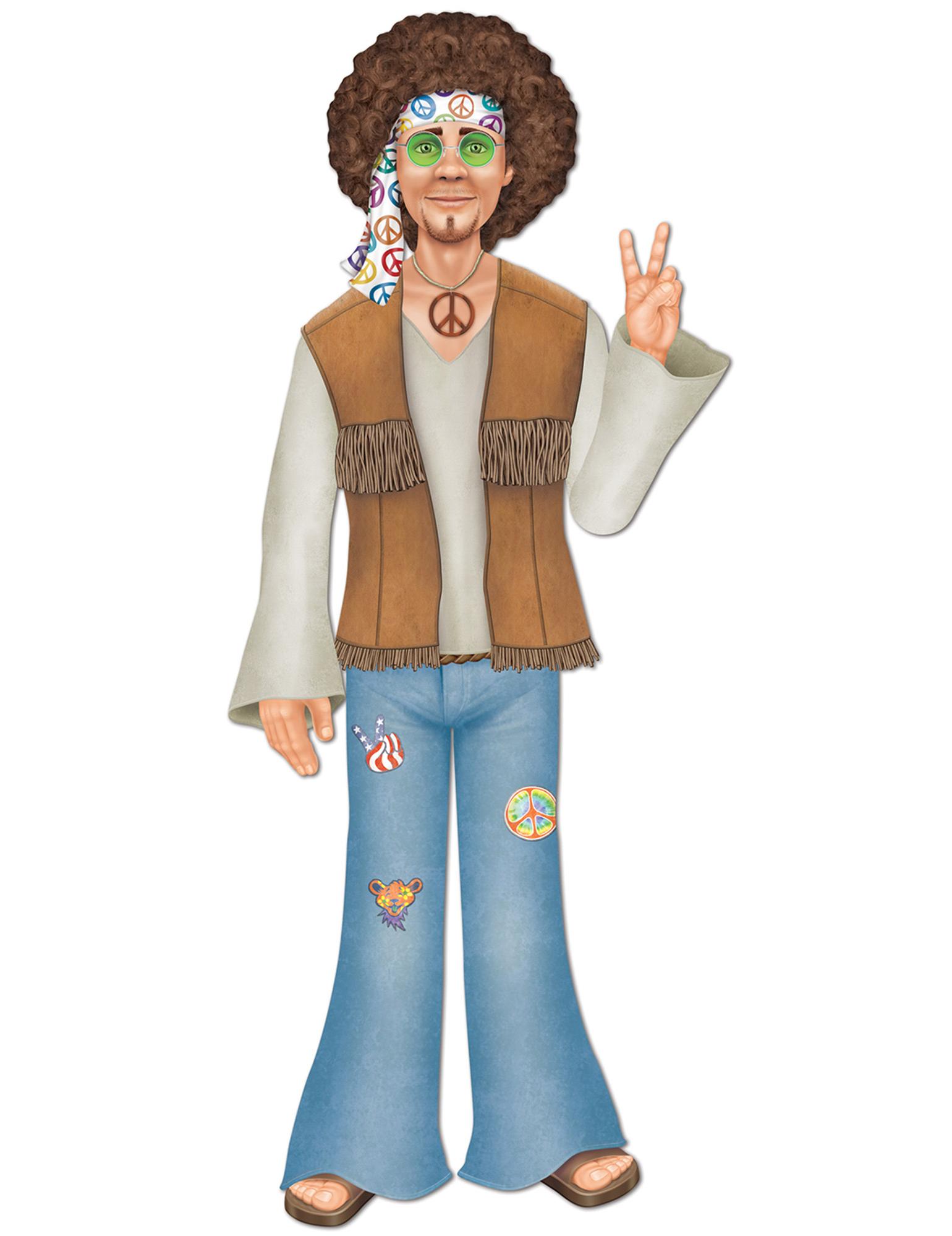 Matrimonio Hippie Uomo : Figurina gigante uomo hippy addobbi e vestiti di