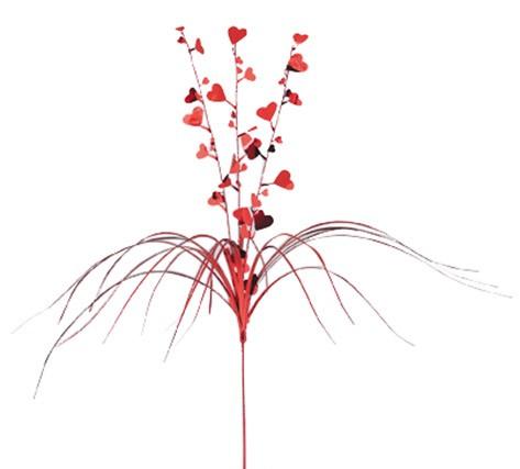 Decorazione a fiore rosso san valentino - Decorazione san valentino ...