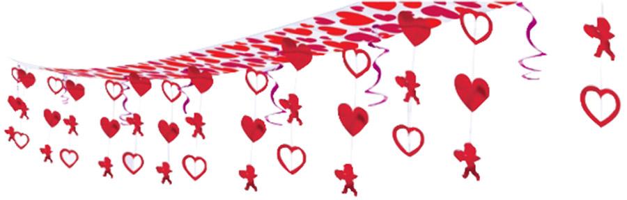 Decorazione da appendere a cuori e cupido san valentino - Decorazione san valentino ...