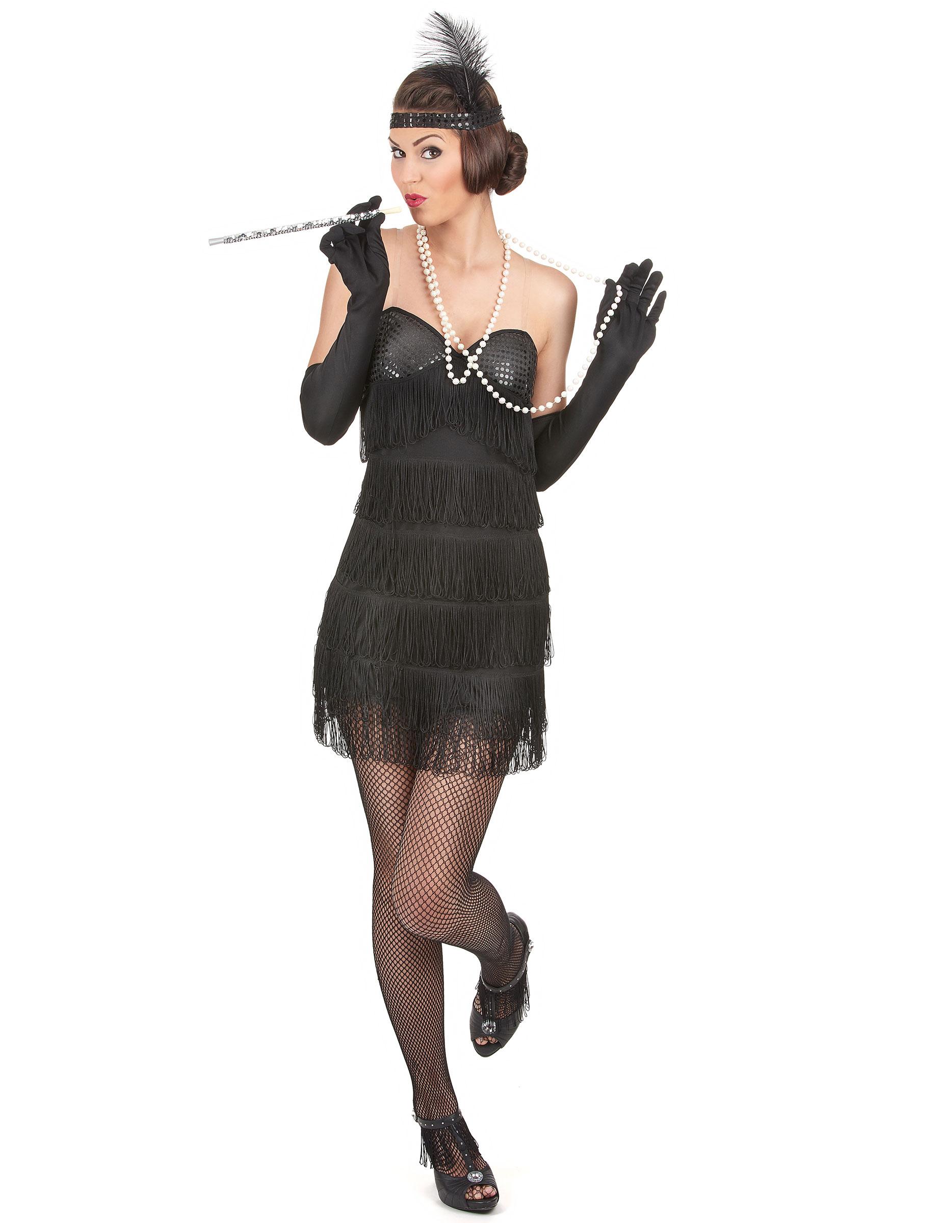 5201803118e9 Costume charleston sexy con guanti per donna: Costumi adulti,e ...