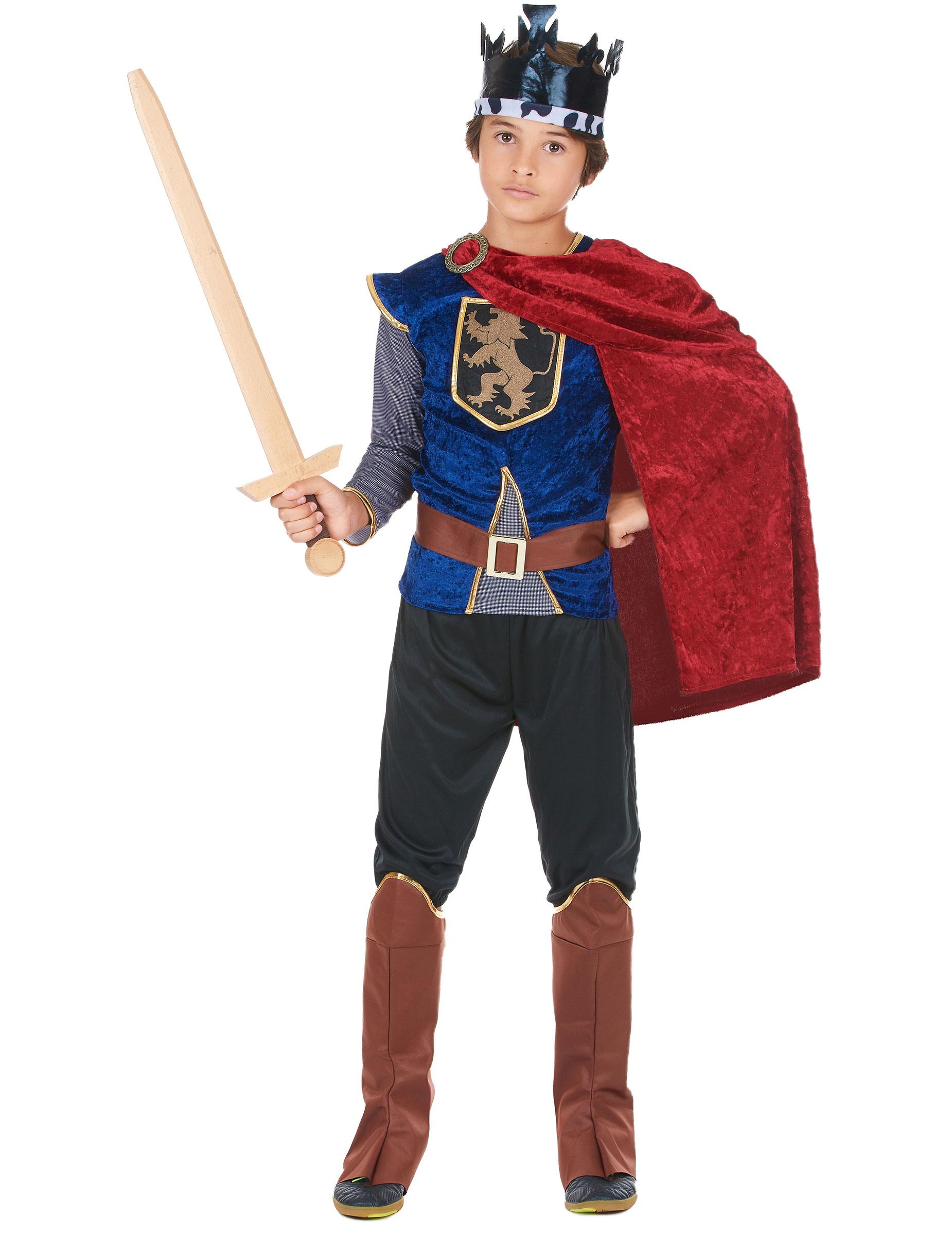Costume re medioevo bambino Carnevale Cod.214566