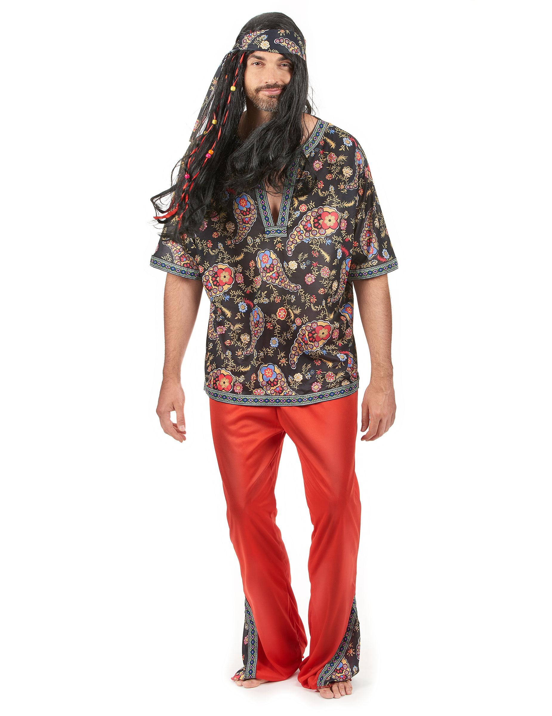 Costume Hippy fantastico per uomo 56cfa5338c7