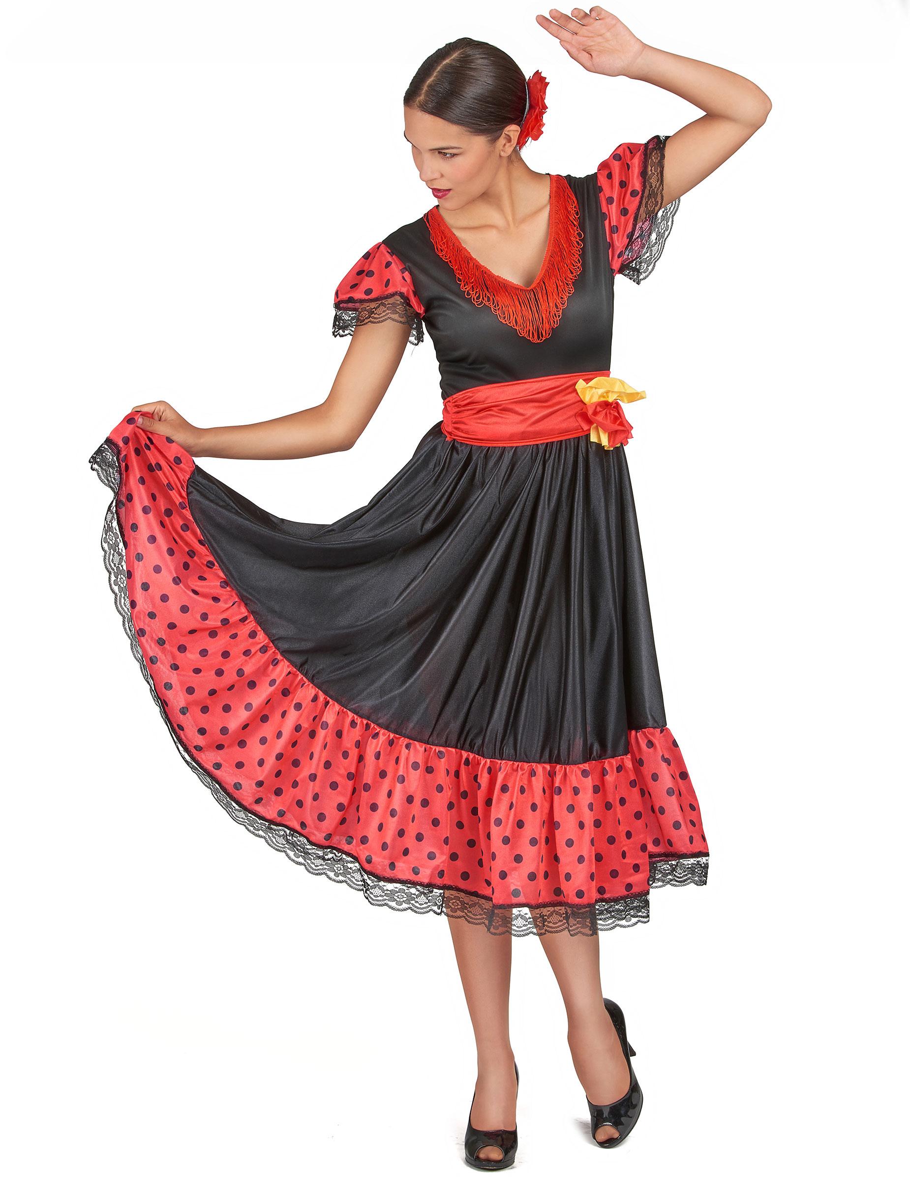 eb9b4fcbb8ccf Costume danzatrice di Flamenco  Costumi adulti