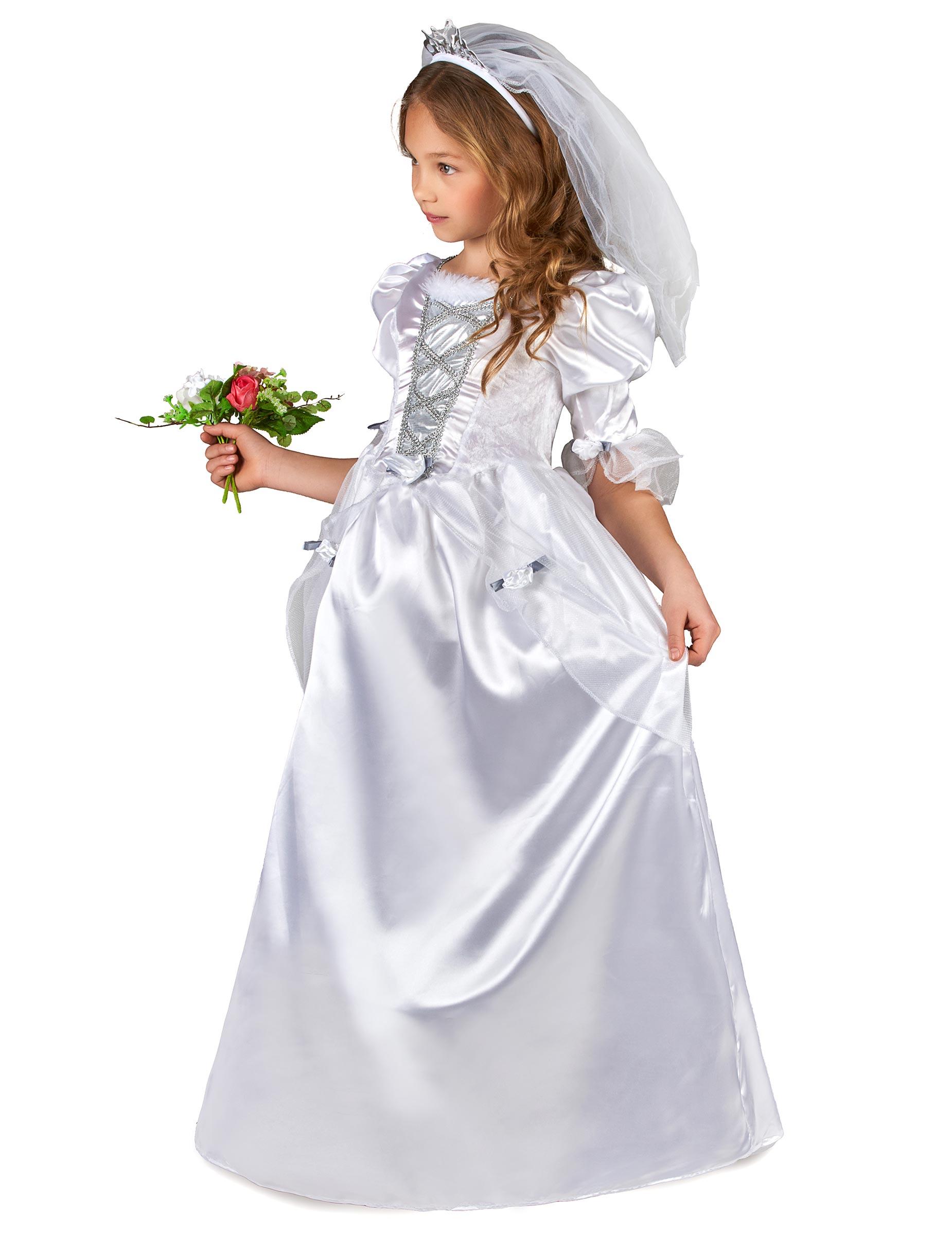 1c843d23b81d Costume da sposa bambina con velo-1