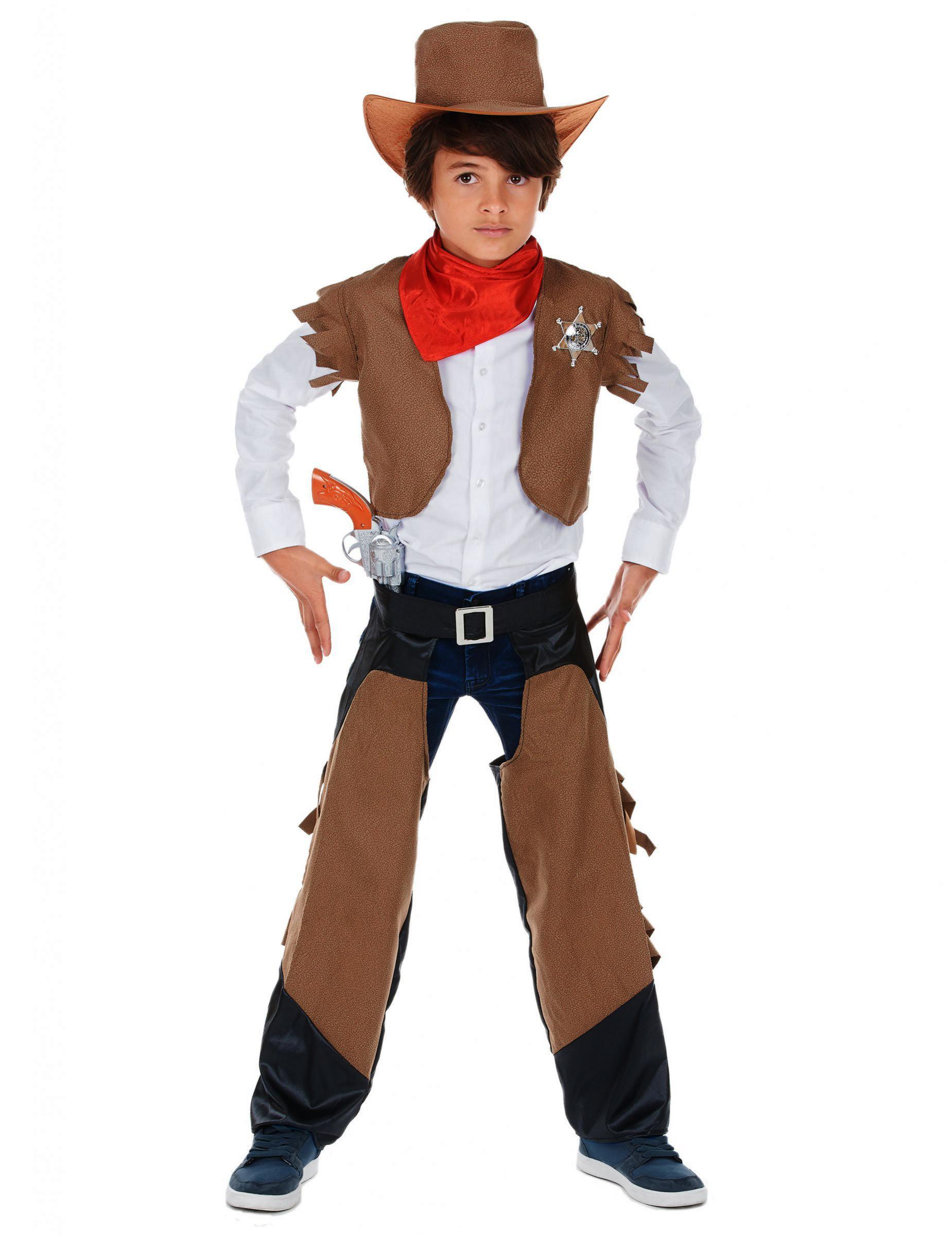 le più votate più recenti alta moda stili di grande varietà Costume cowboy coraggioso per bambino