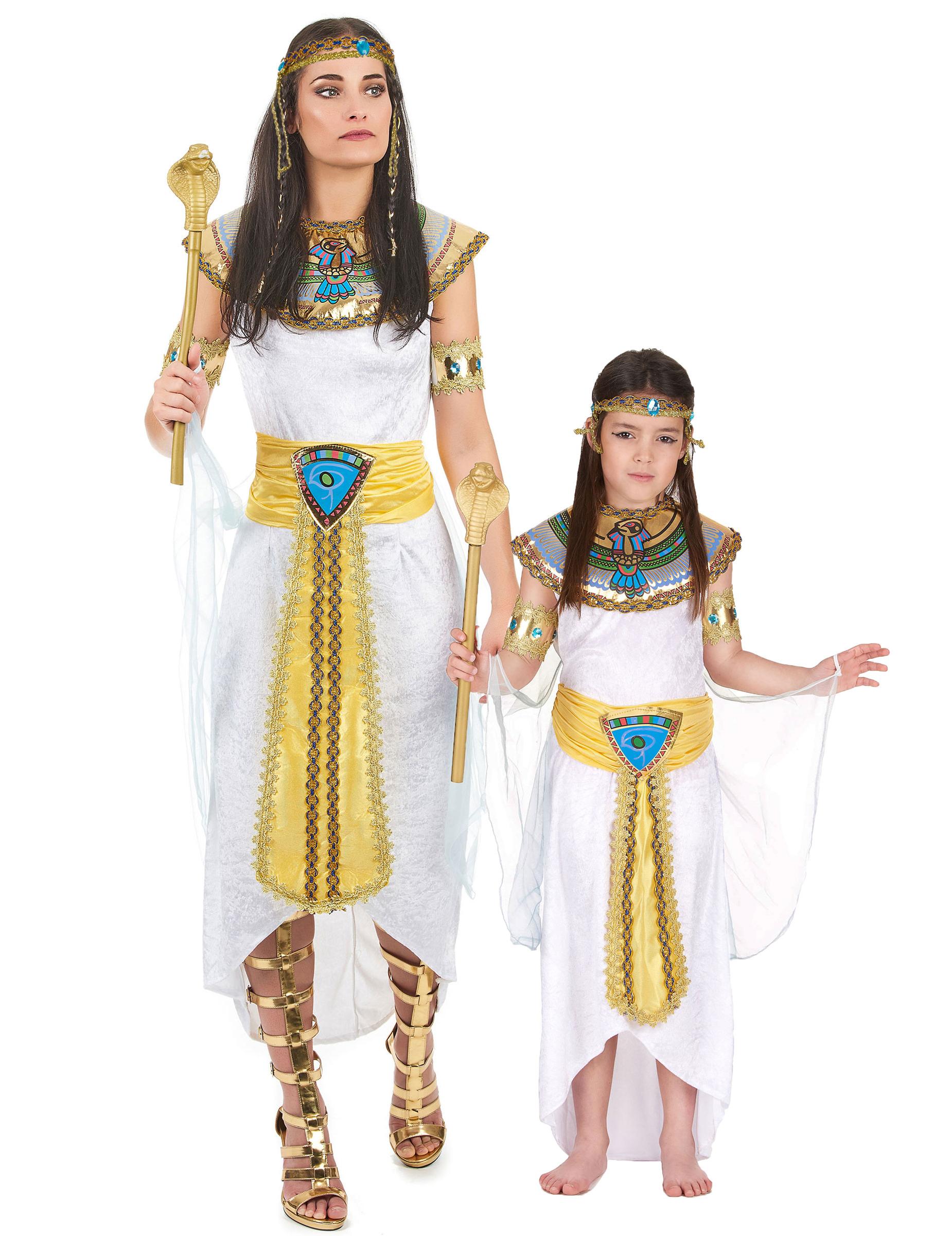 Famoso Travestimento da coppia di Principesse del Nilo adulto e bambina AO78