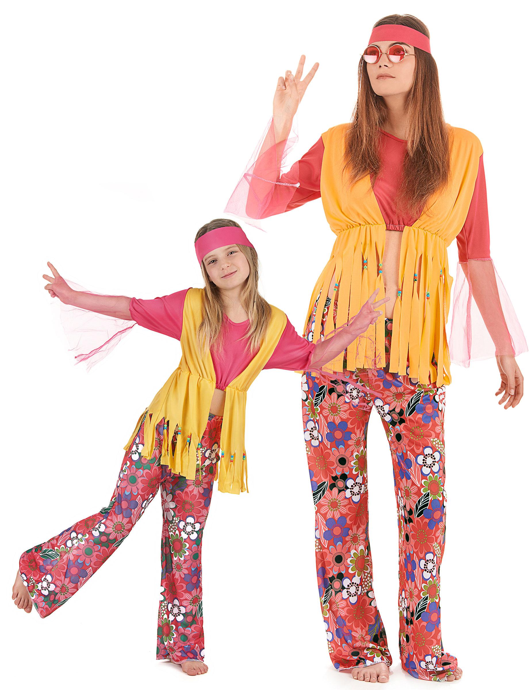 Costume coppia hippy madre e figlia Costumi coppiae vestiti di carnevale online - Vegaoo
