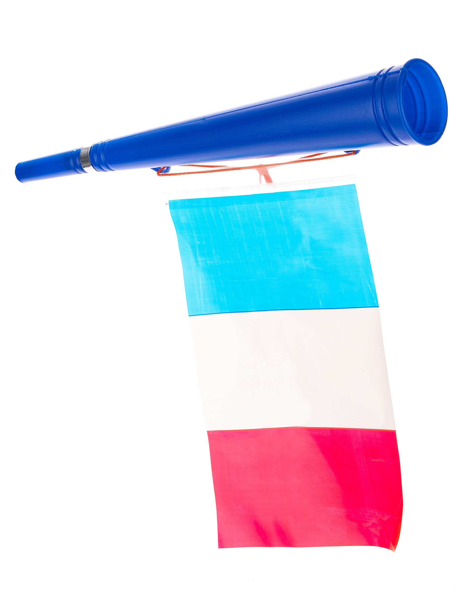 Trombetta Calcio Con Bandiera Francese Accessorie Vestiti Di